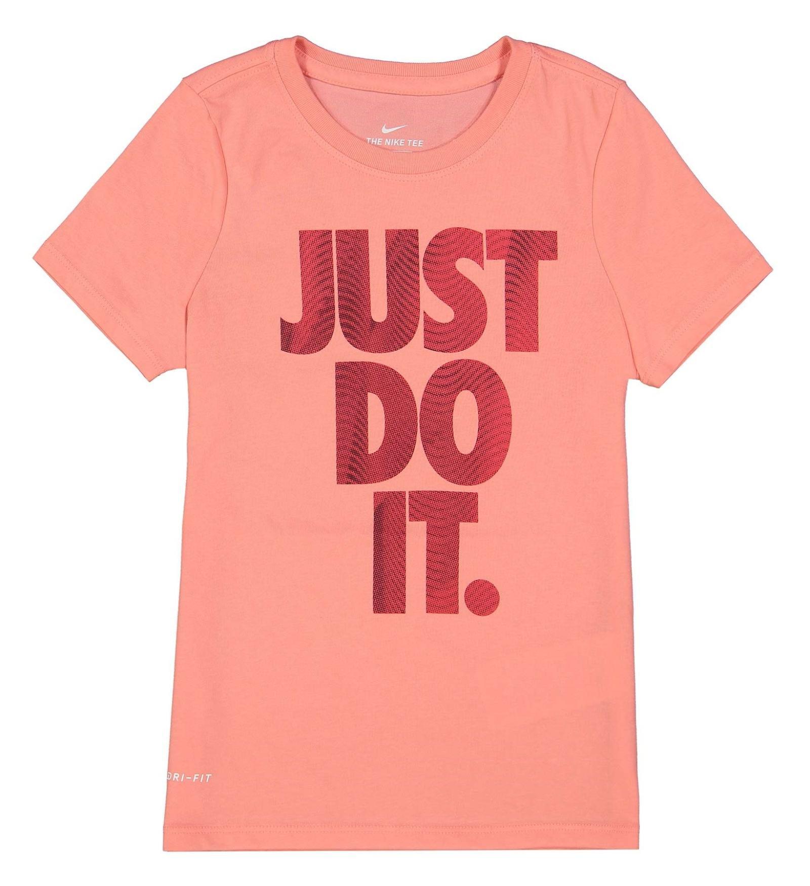 تی شرت ورزشی نخی بچگانه - نایکی - صورتي  - 2