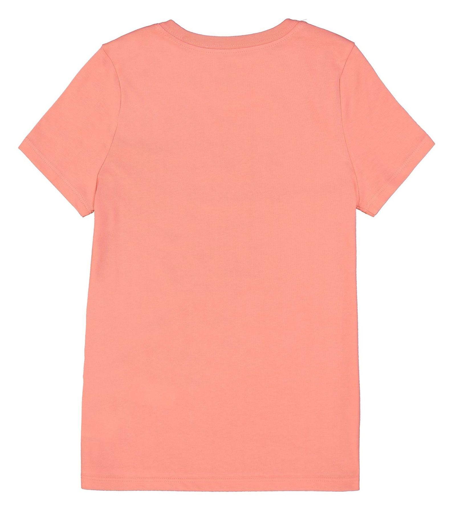 تی شرت ورزشی نخی بچگانه - نایکی - صورتي  - 3