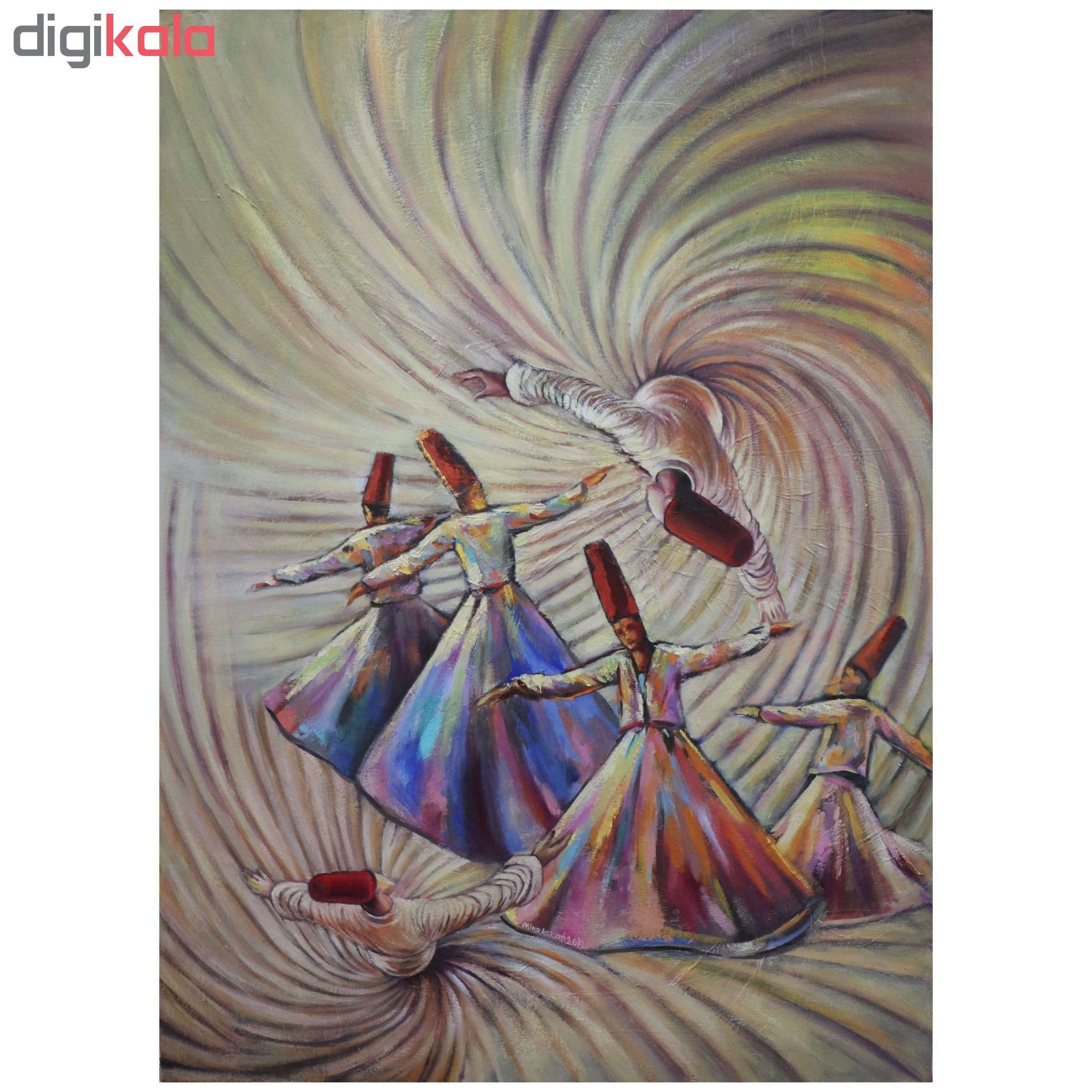 خرید                      تابلو نقاشی طرح سماع کد 001
