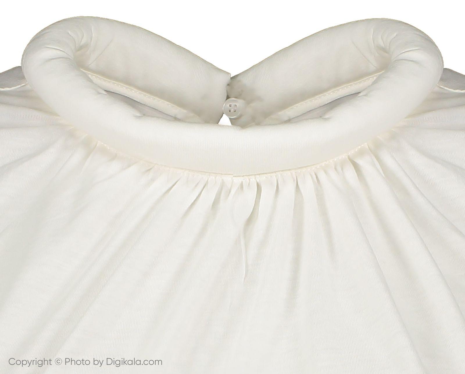 تی شرت یقه گرد زنانه - مانگو - سفید - 4