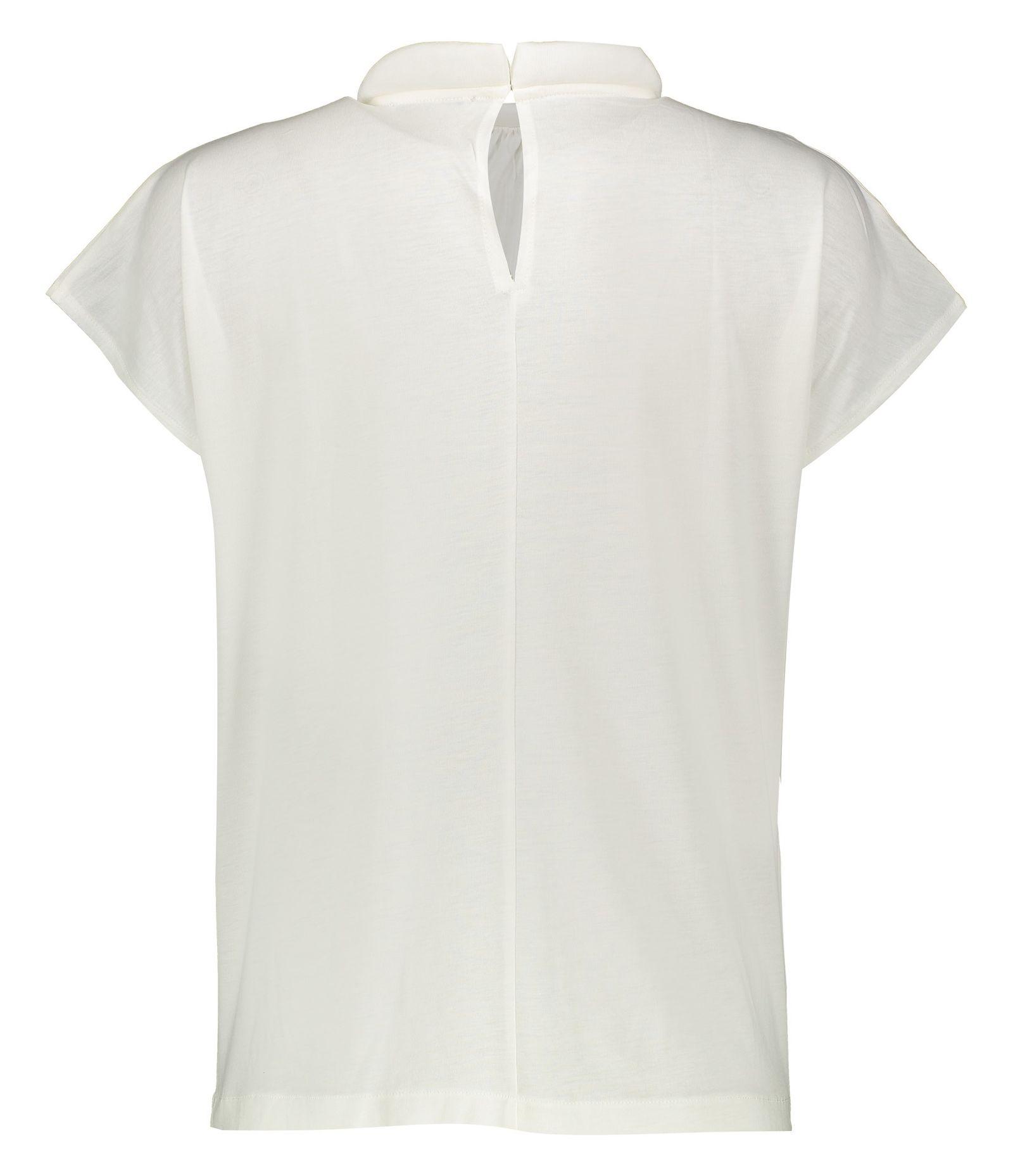 تی شرت یقه گرد زنانه - مانگو - سفید - 3