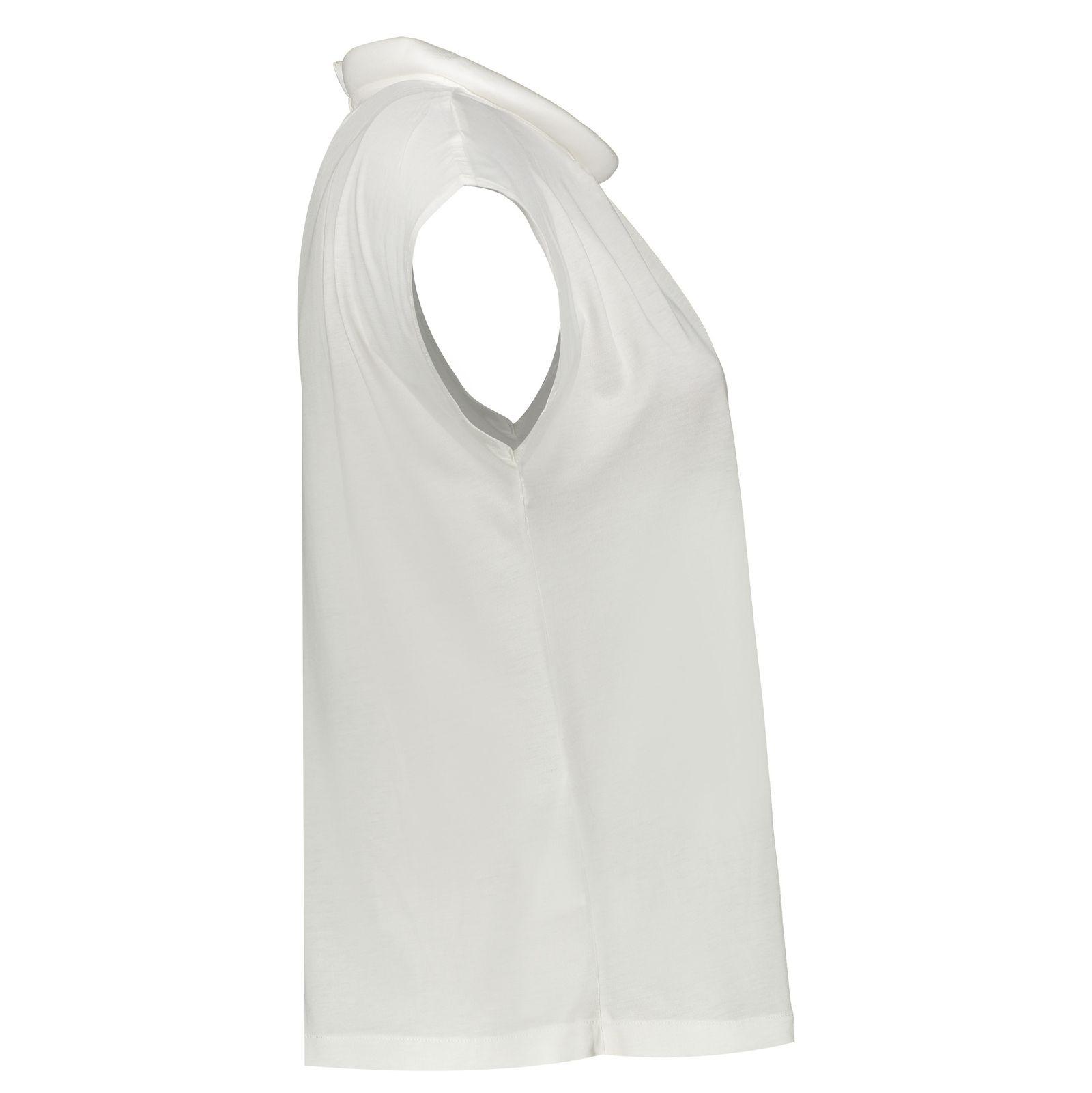 تی شرت یقه گرد زنانه - مانگو - سفید - 2