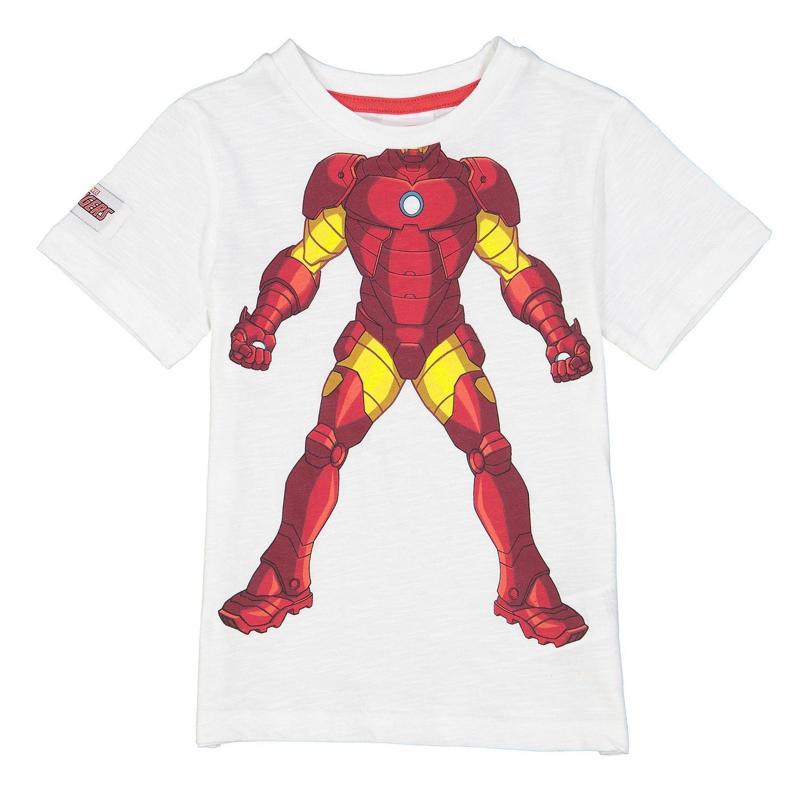 تی شرت نخی یقه گرد پسرانه - بلوزو - سفيد - 1
