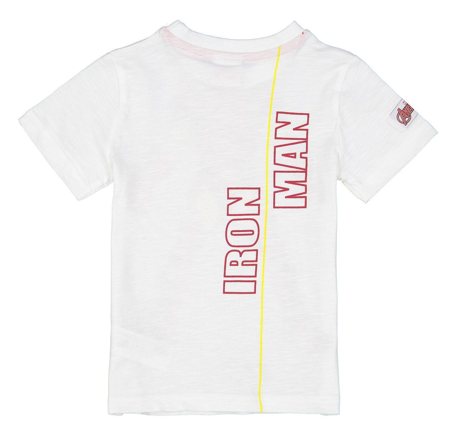 تی شرت نخی یقه گرد پسرانه - بلوزو - سفيد - 2