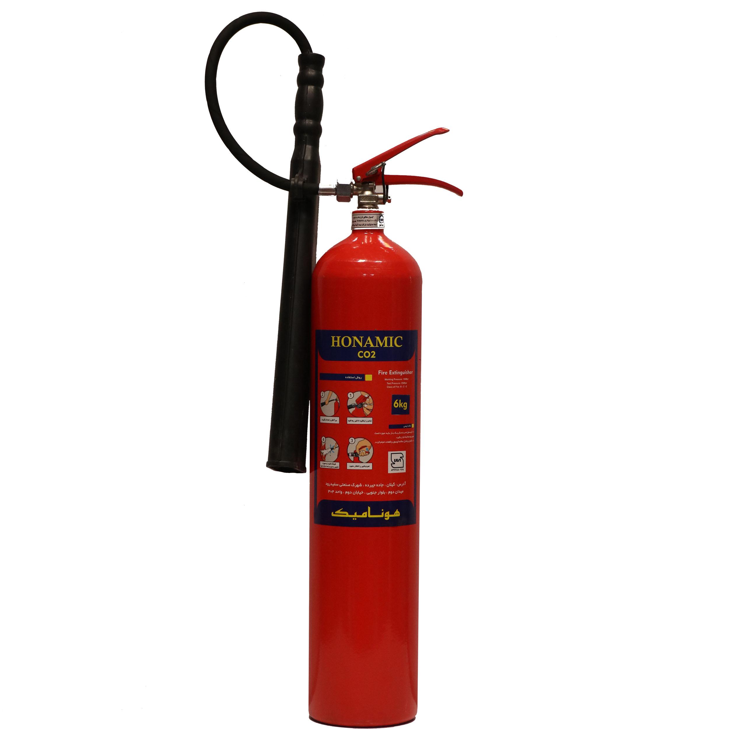 کپسول آتش نشانی CO2 هونامیک کد 1417  وزن 6 کیلوگرم