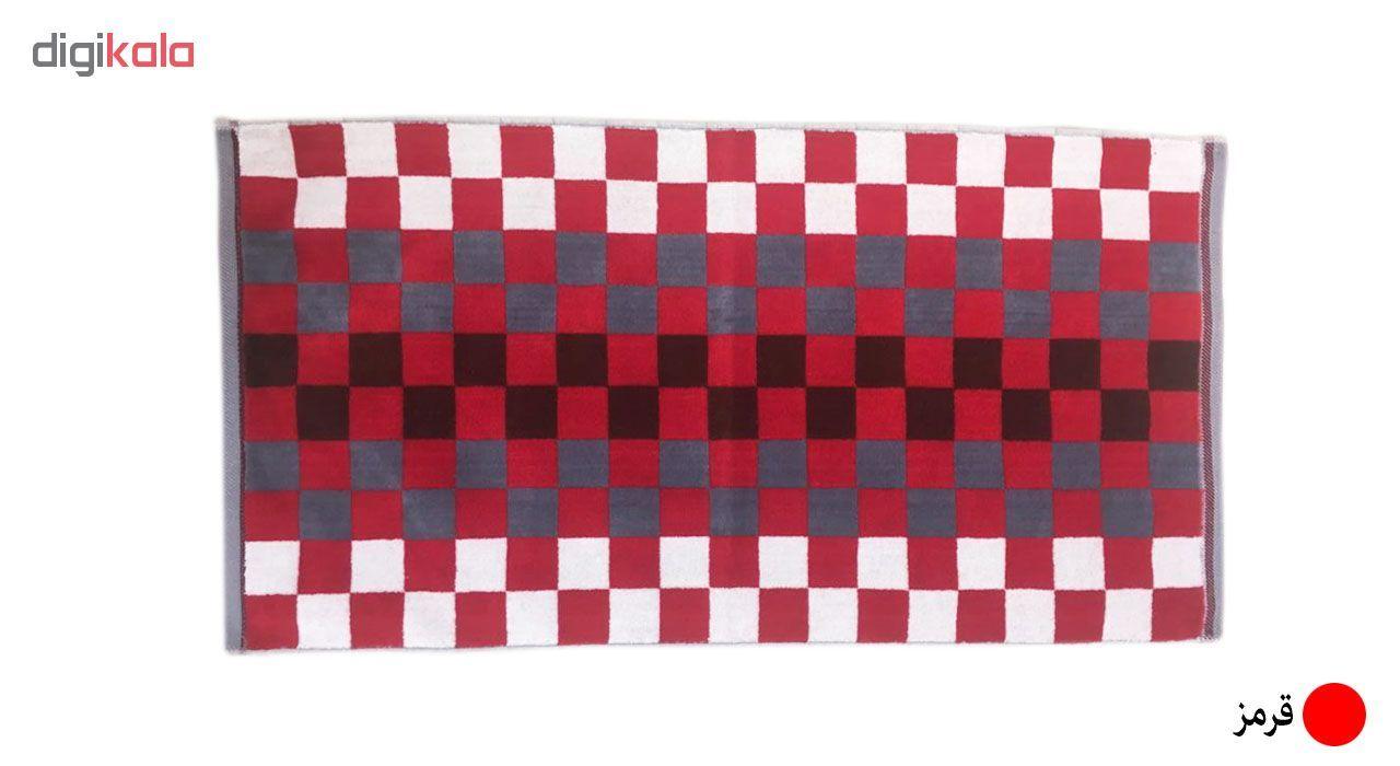 حوله دستی ماندگار طرح شطرنجی سایز 80×40 سانتی متر main 1 1