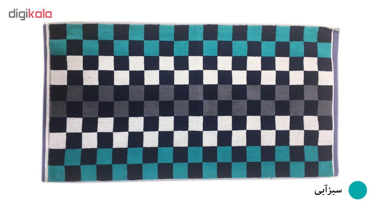 حوله دستی ماندگار طرح شطرنجی سایز 80×40 سانتی متر main 1 4