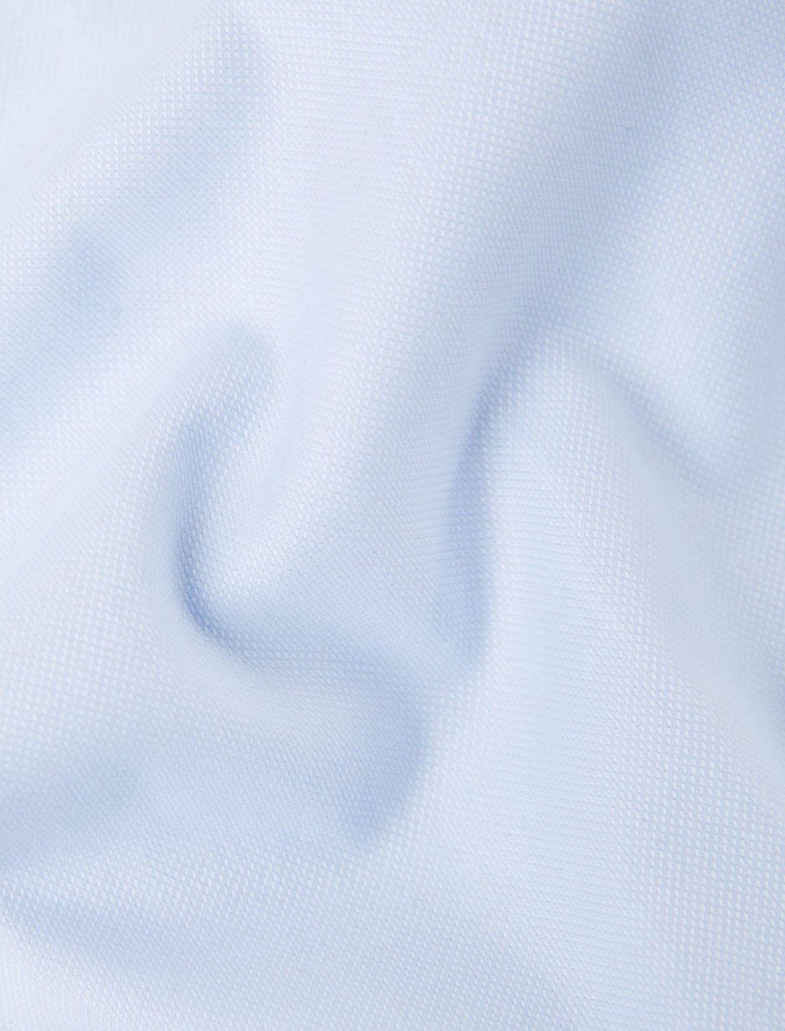 پیراهن نخی آستین بلند مردانه - مانگو - آبي روشن - 4
