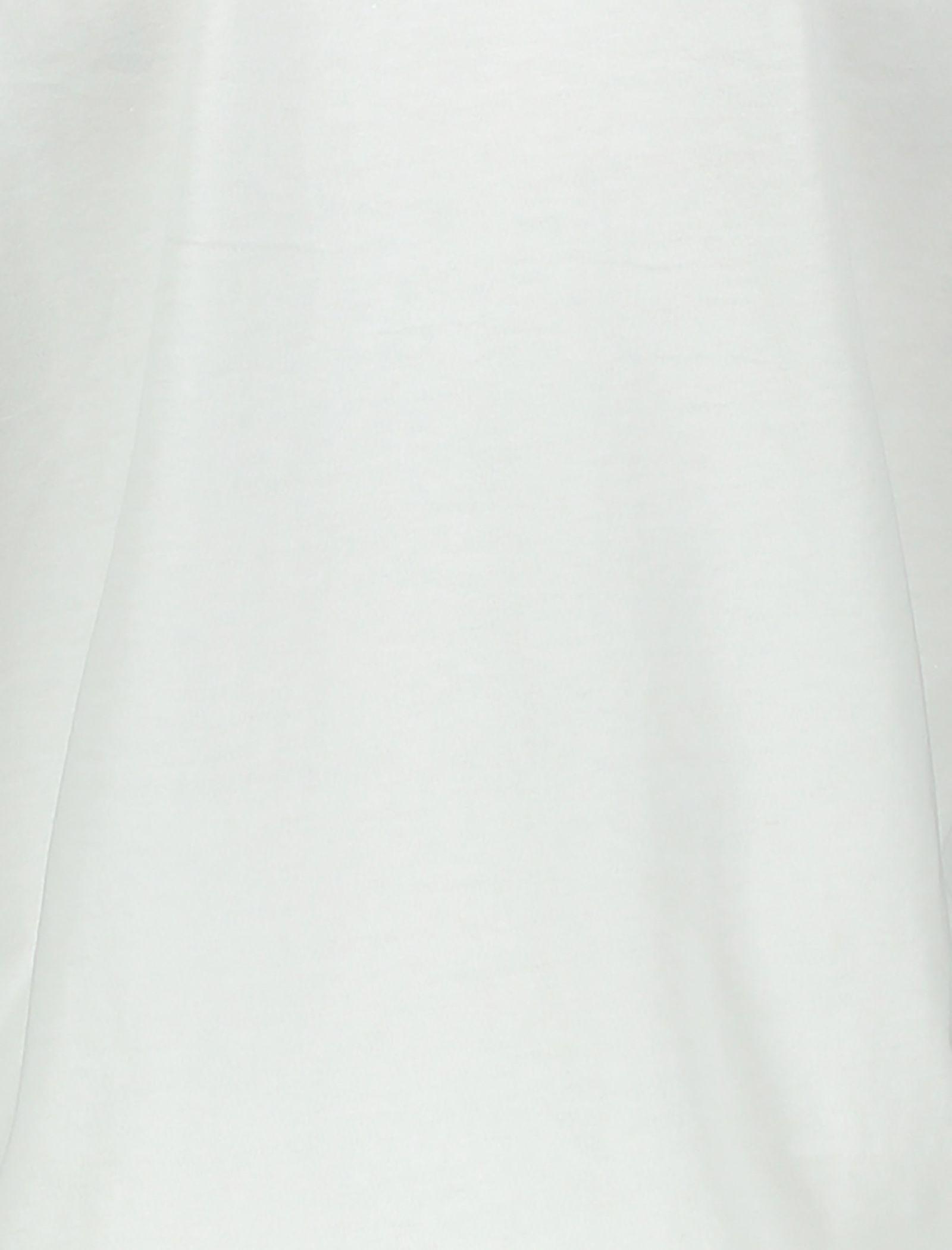 تی شرت نخی یقه گرد زنانه - مانگو - سفيد - 4