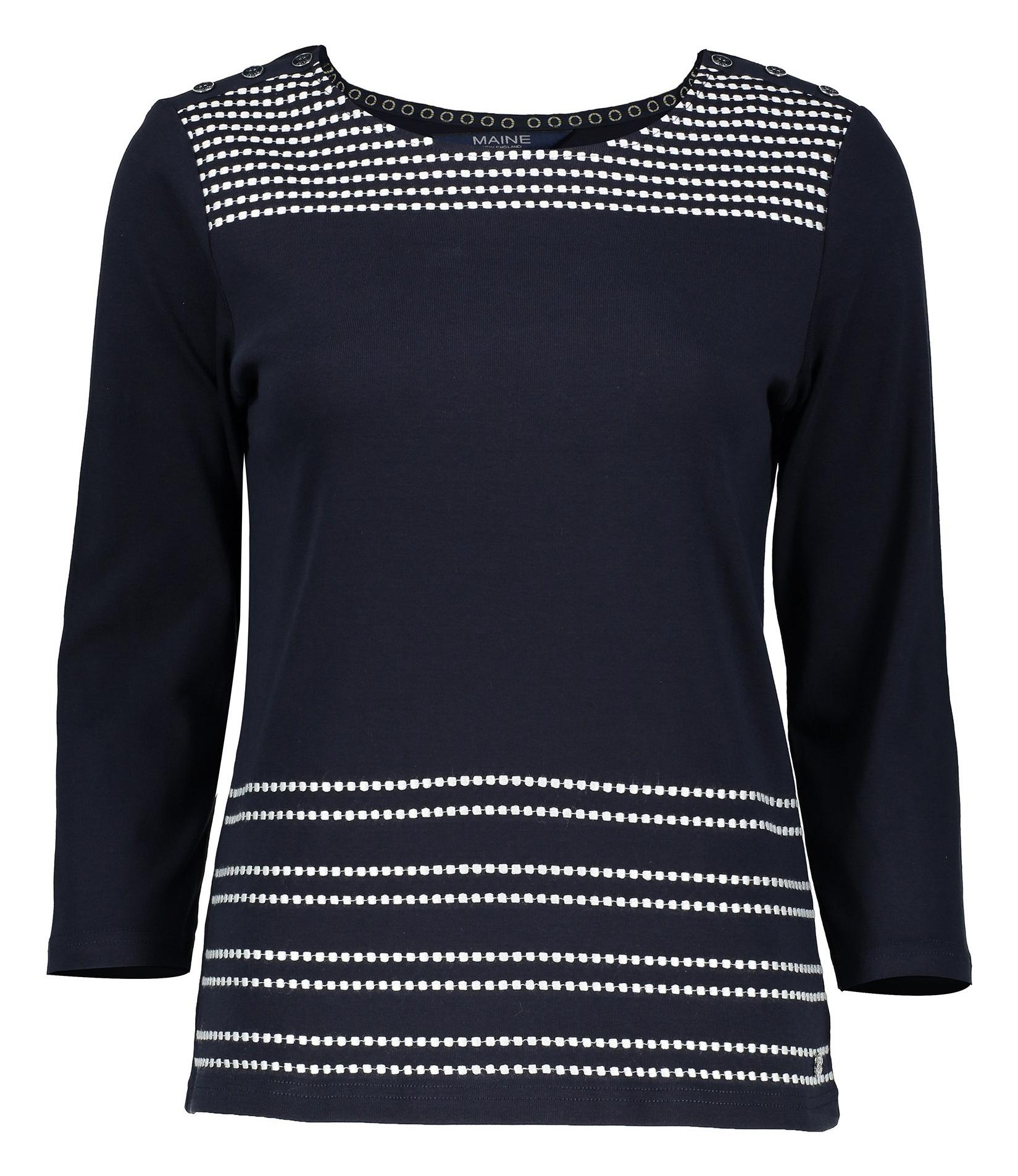 تی شرت نخی آستین بلند زنانه - مین نیو اینگلند