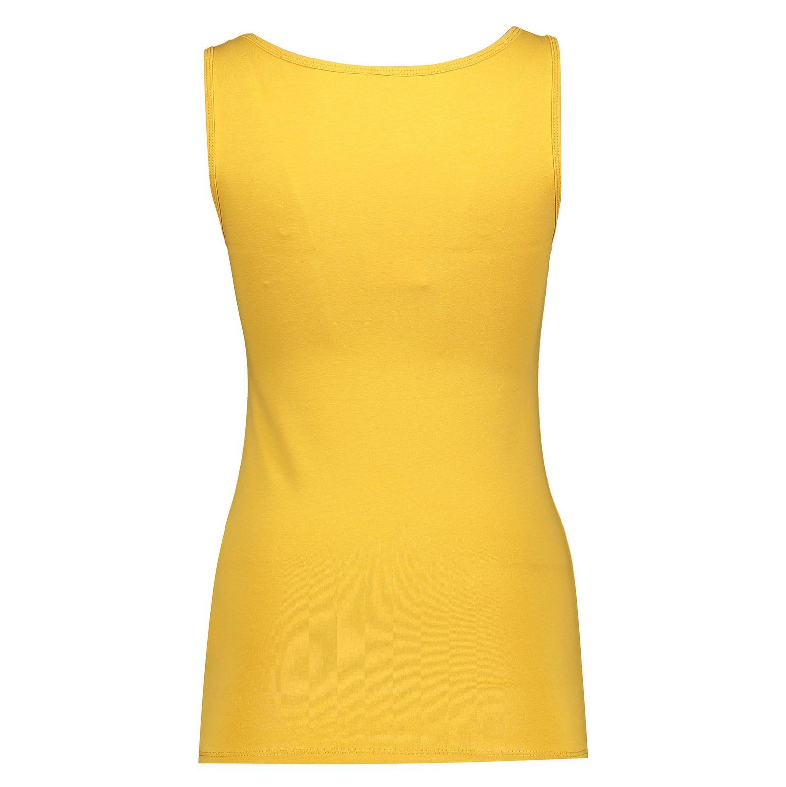 تاپ نخی یقه گرد زنانه - دفکتو - زرد - 2