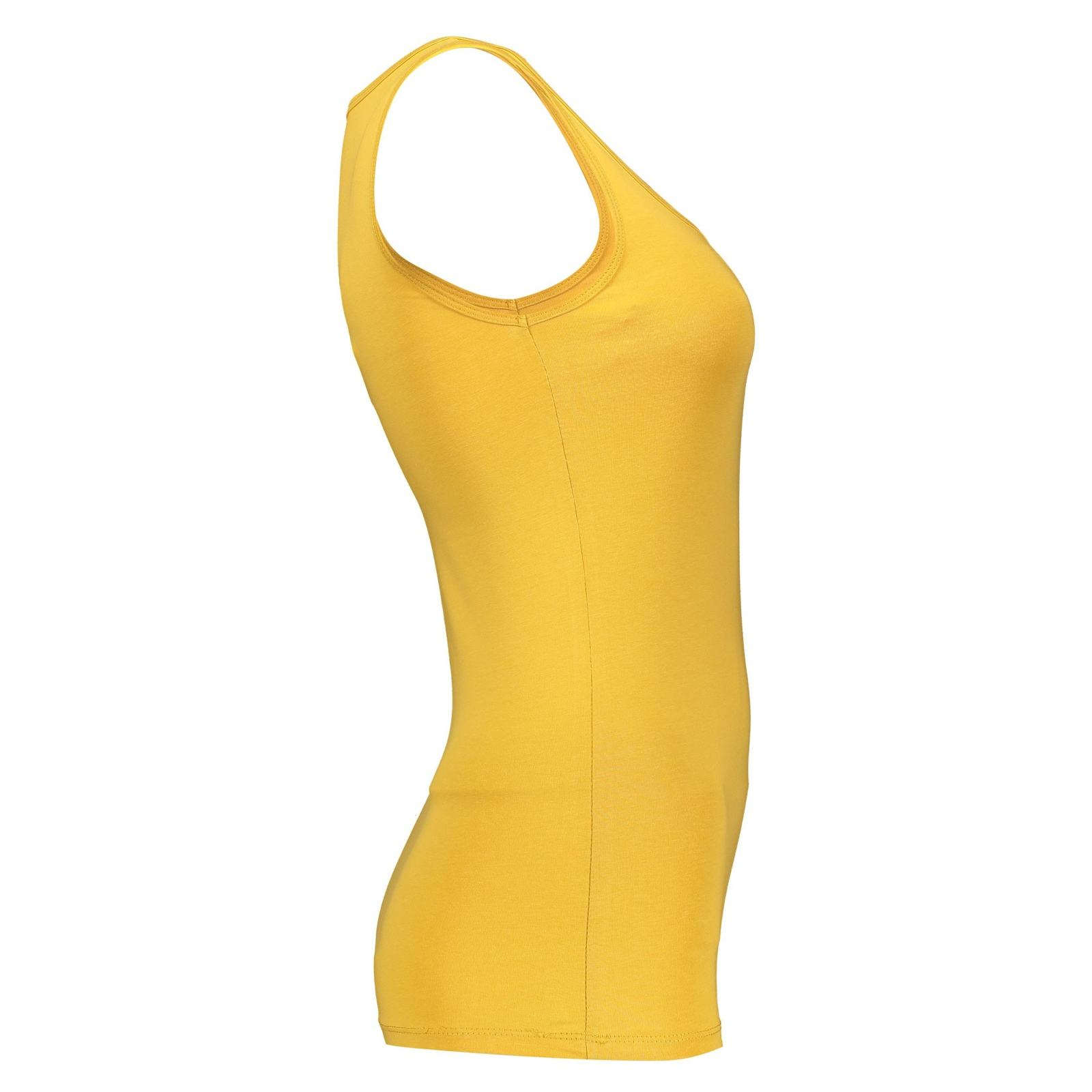 تاپ نخی یقه گرد زنانه - دفکتو - زرد - 3