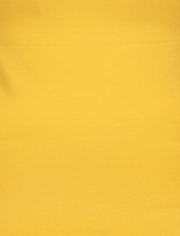 تاپ نخی یقه گرد زنانه - دفکتو - زرد - 5