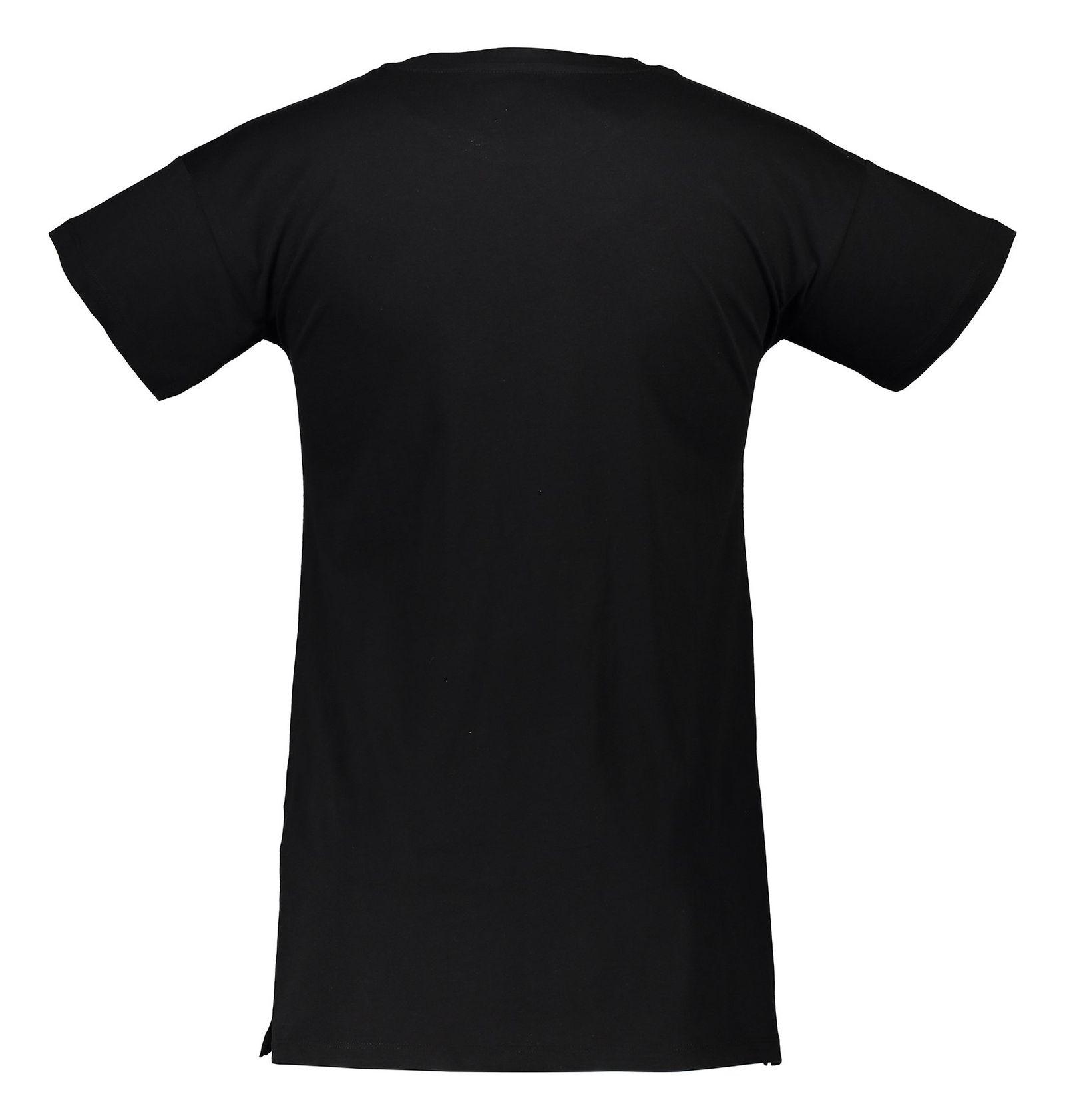 تی شرت نخی یقه گرد زنانه - دفکتو - مشکي  - 1
