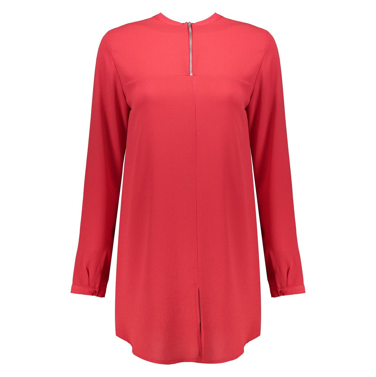 تونیک آستین بلند زنانه - دفکتو - قرمز - 1