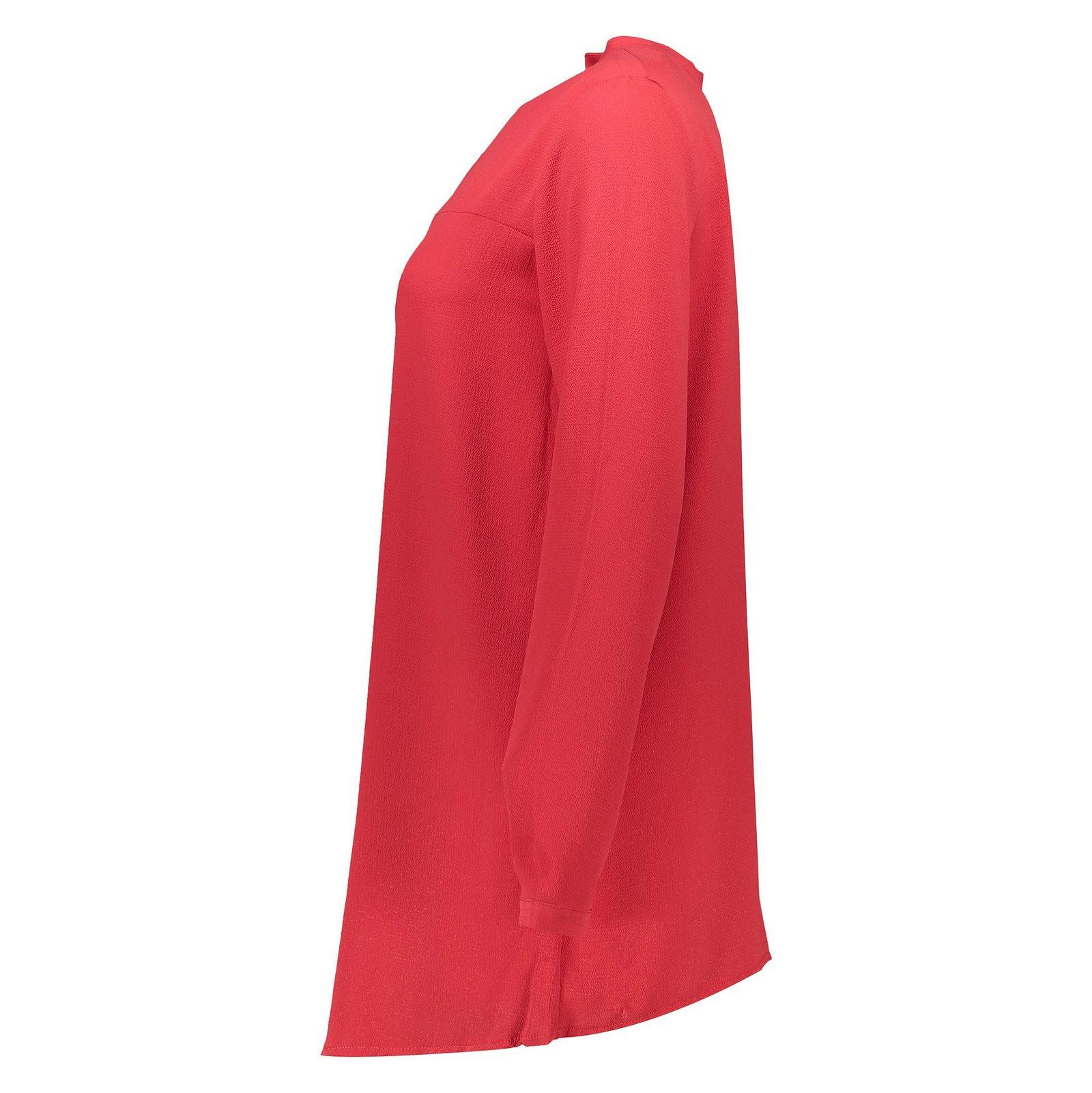 تونیک آستین بلند زنانه - دفکتو - قرمز - 4
