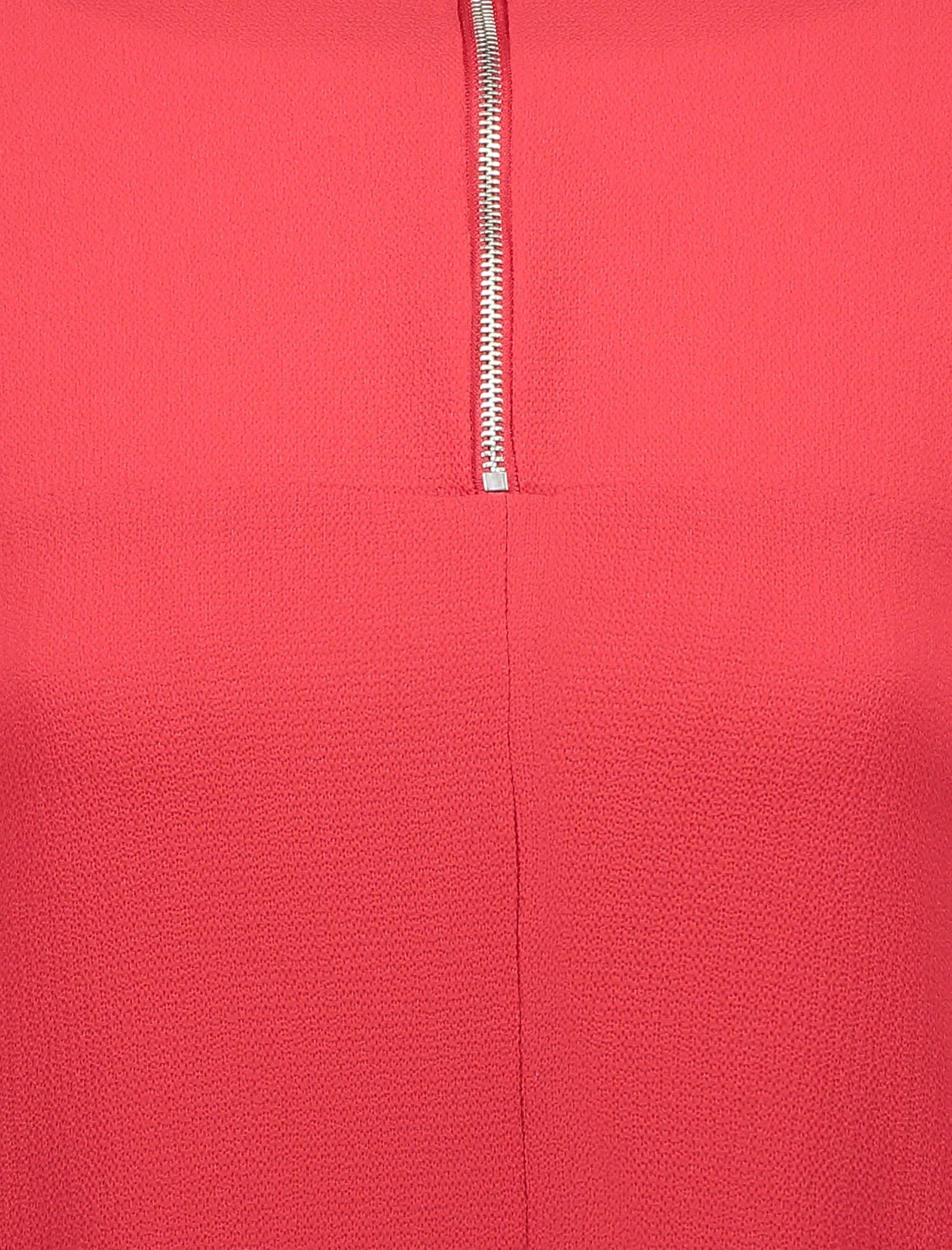 تونیک آستین بلند زنانه - دفکتو - قرمز - 5
