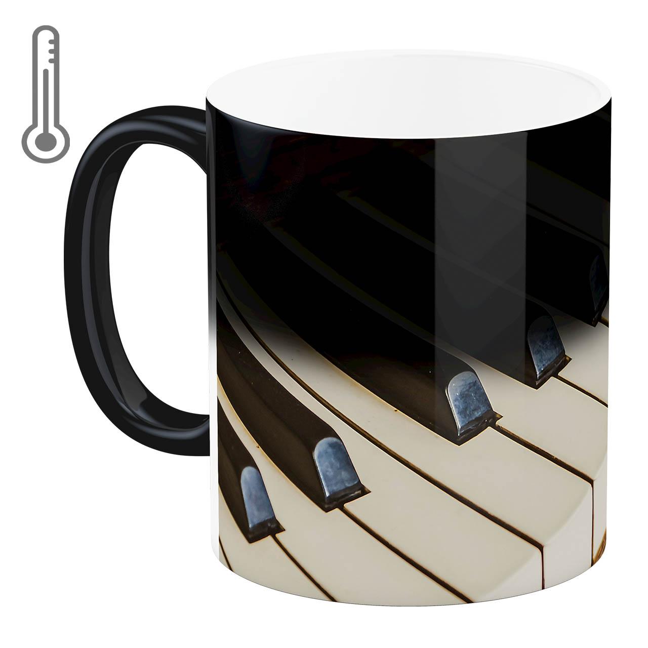عکس ماگ حرارتی آبنبات رنگی طرح پیانو  کد ARM0504