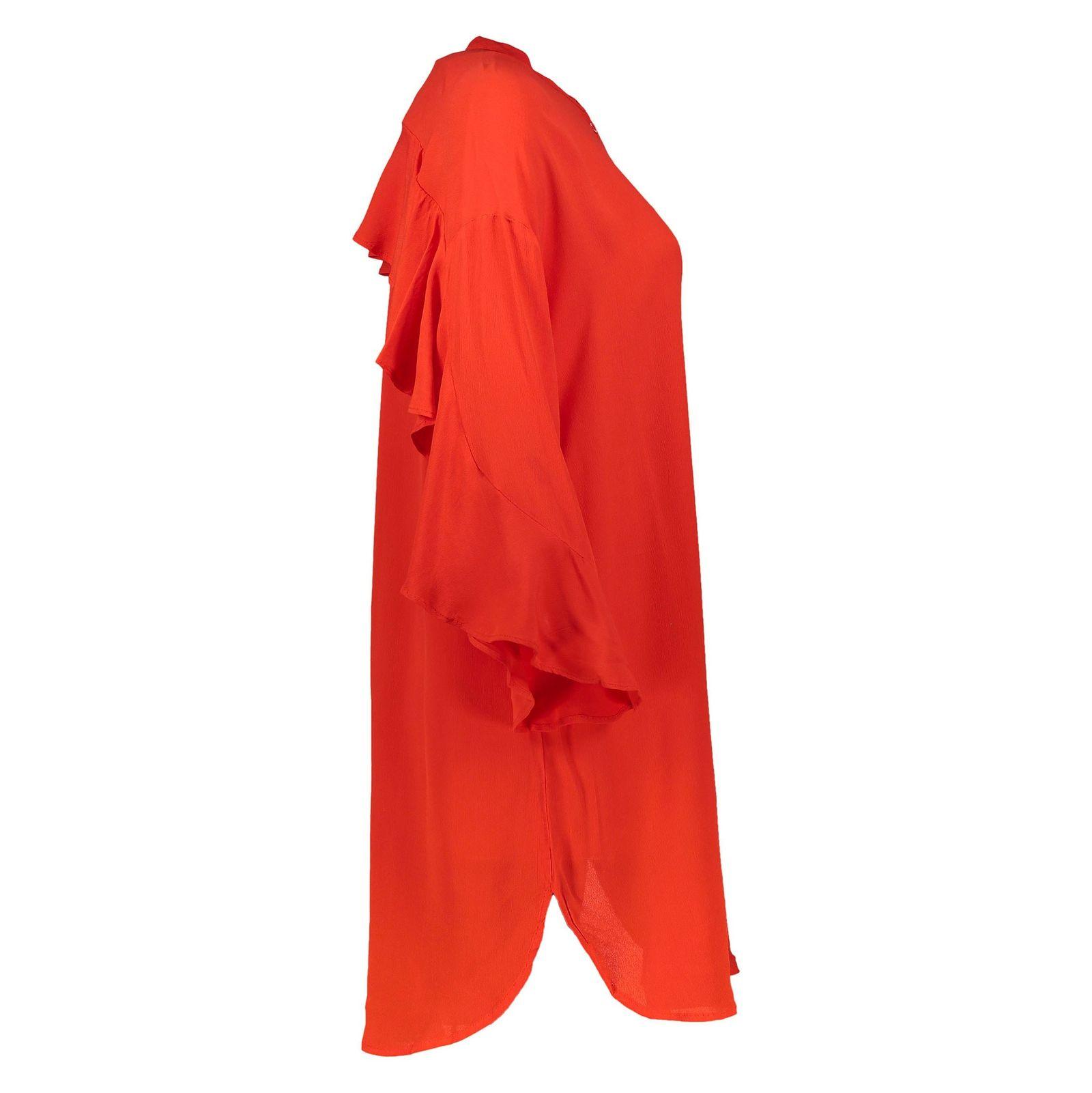 تونیک ویسکوز بلند زنانه - ورو مدا - قرمز - 3