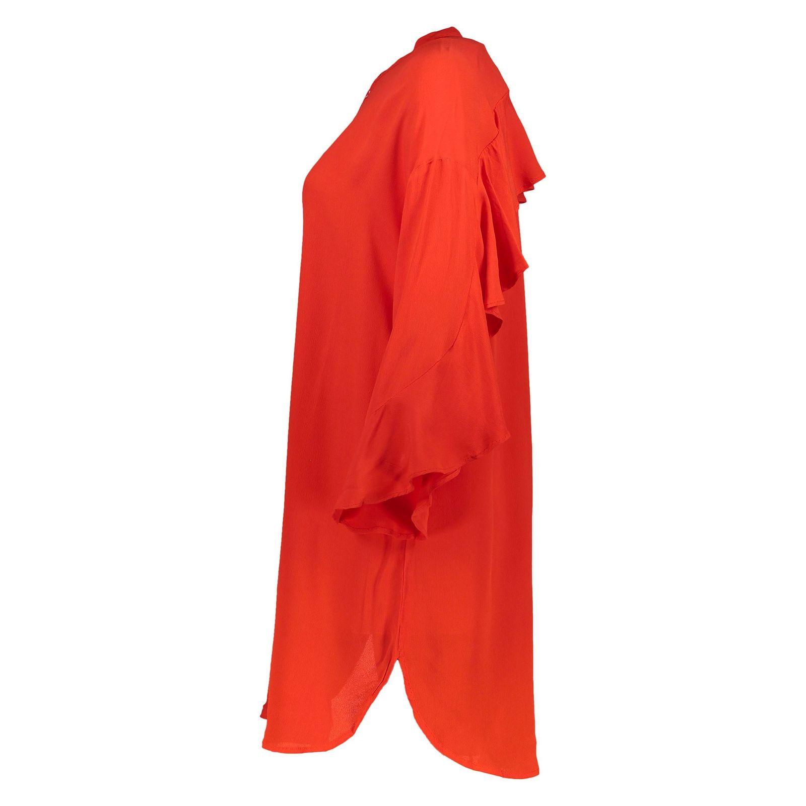 تونیک ویسکوز بلند زنانه - ورو مدا - قرمز - 4
