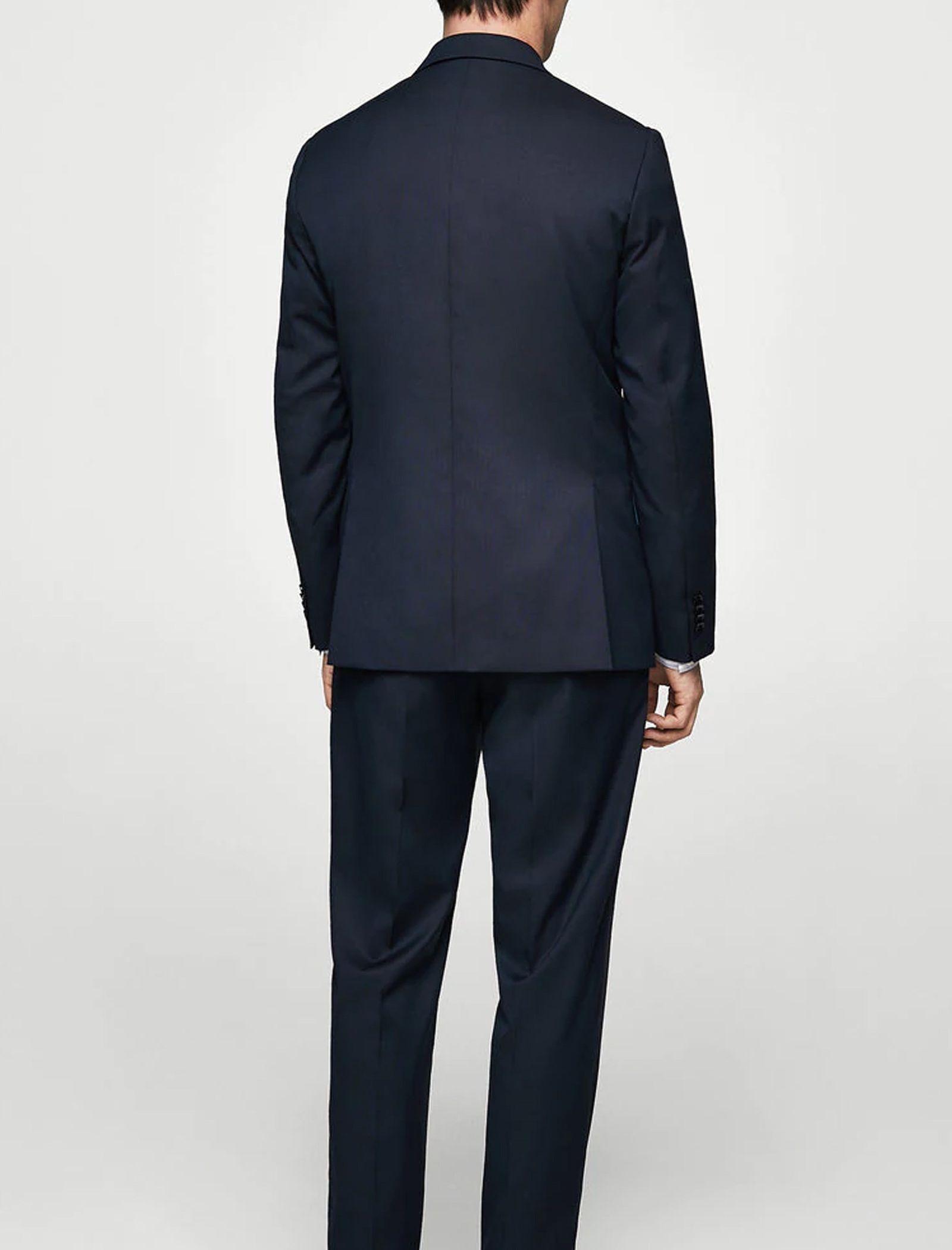 کت تک رسمی مردانه - مانگو - سرمه اي - 3