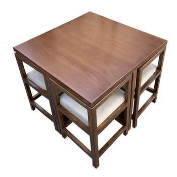 میز و صندلی ناهار خوری اسپرسان چوب کد Sm66