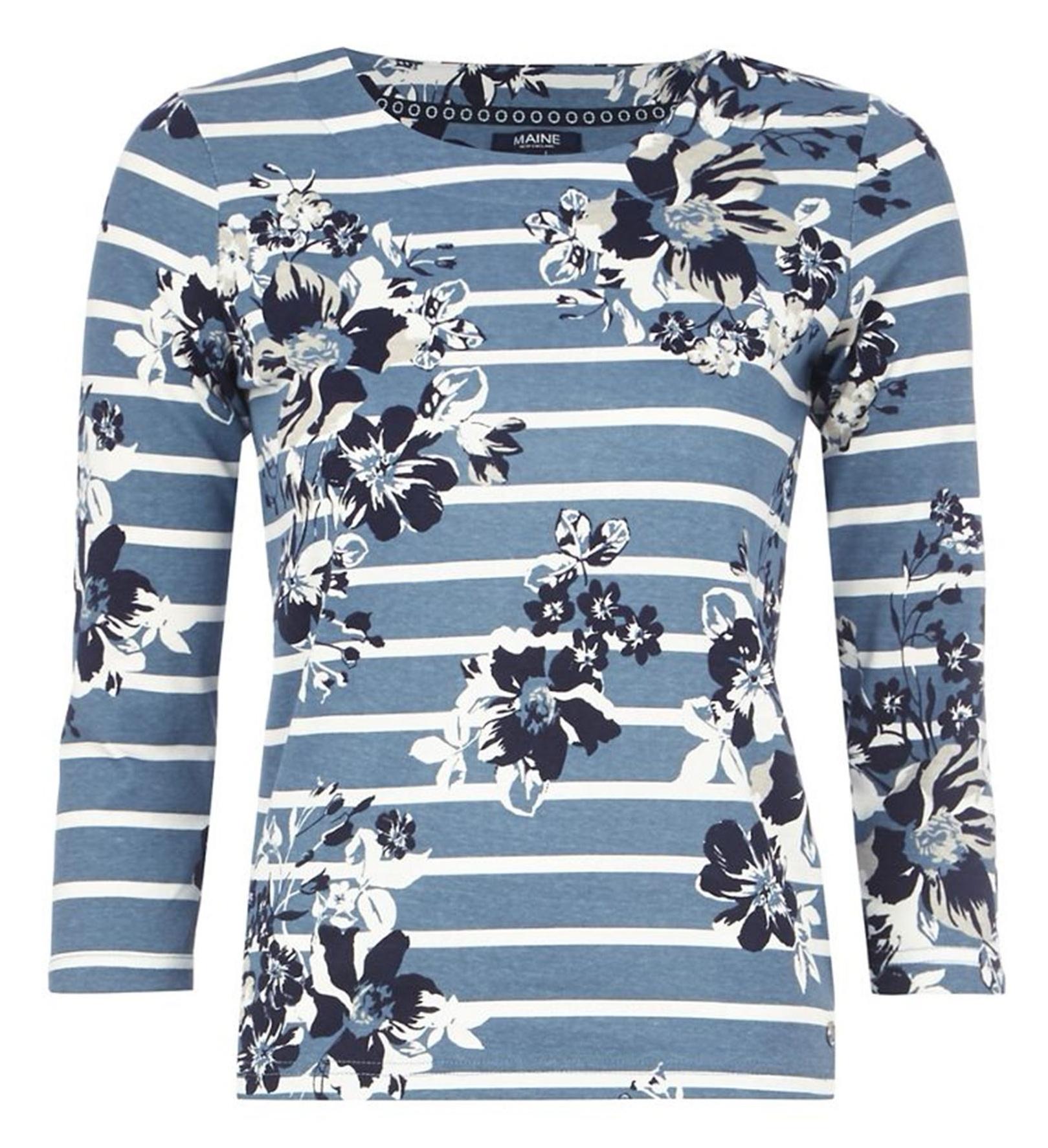 تی شرت نخی یقه گرد زنانه - مین نیو اینگلند
