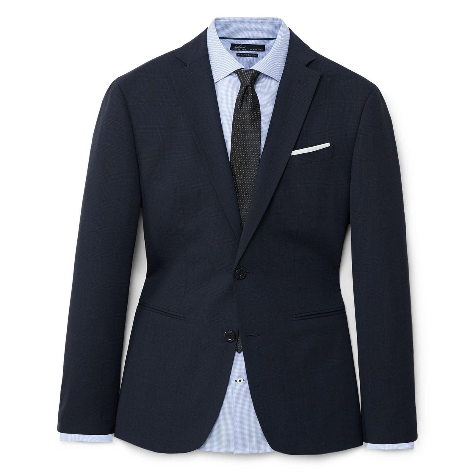 کت تک رسمی مردانه - مانگو - سرمه اي  - 1