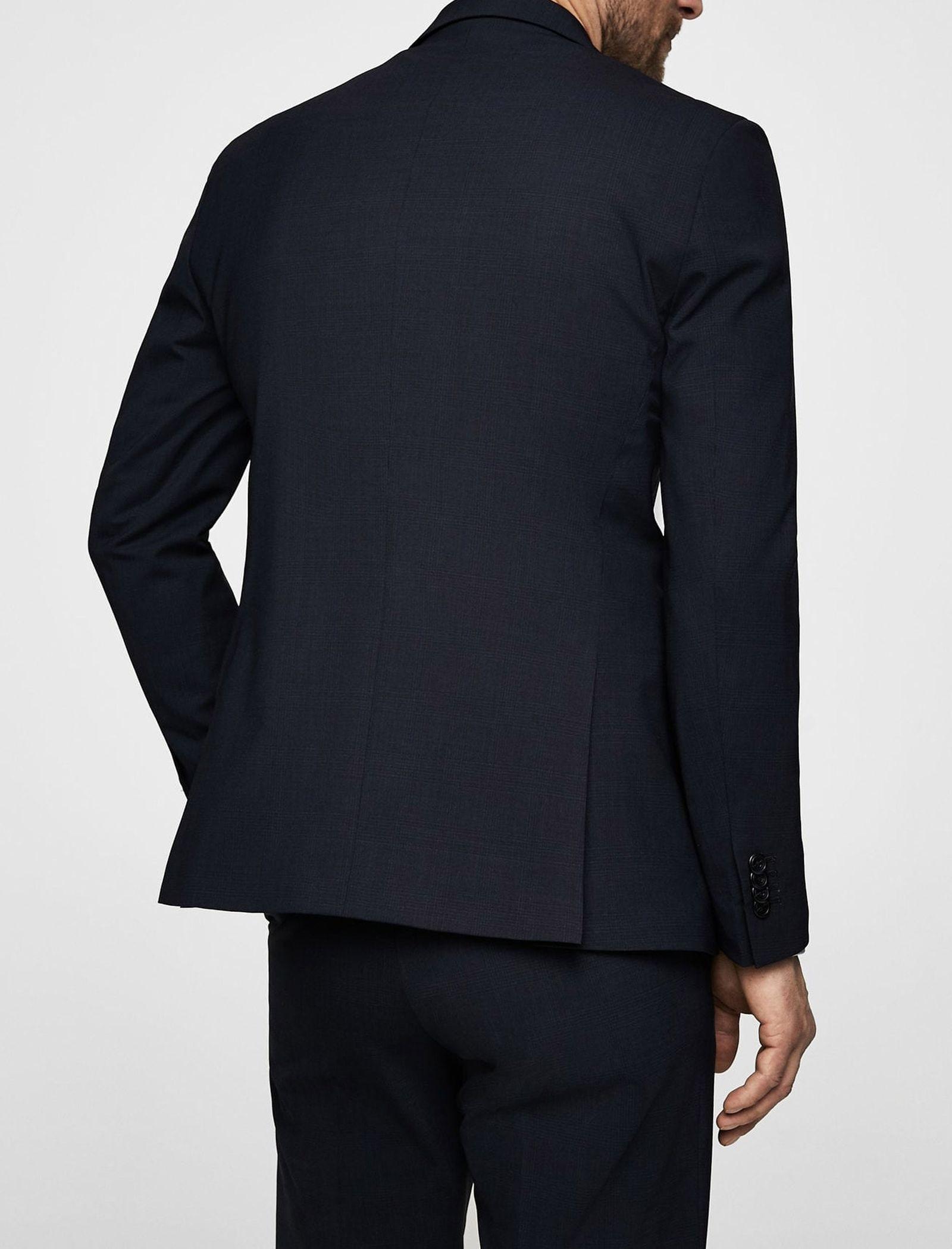 کت تک رسمی مردانه - مانگو - سرمه اي  - 6