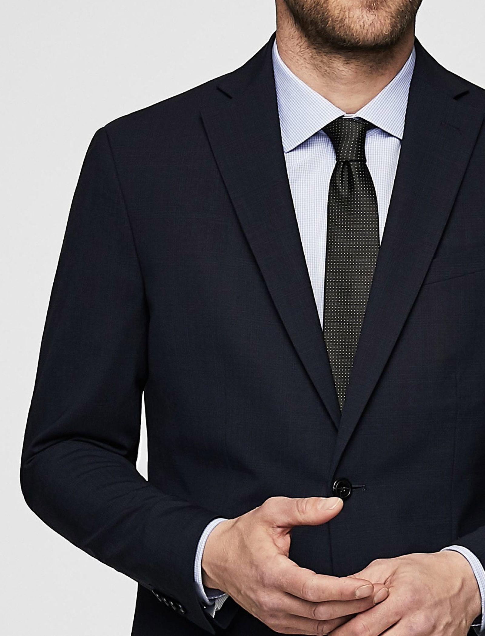 کت تک رسمی مردانه - مانگو - سرمه اي  - 7