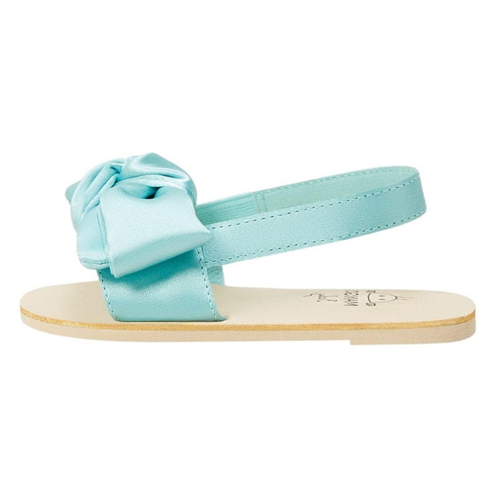 کفش بندی نوزادی دخترانه - مانگو - آبي روشن  - 2