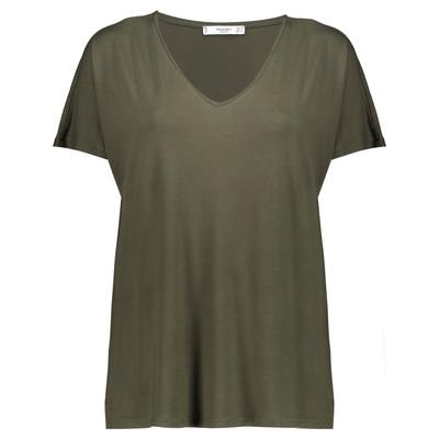 تی شرت ویسکوز یقه هفت زنانه – مانگو