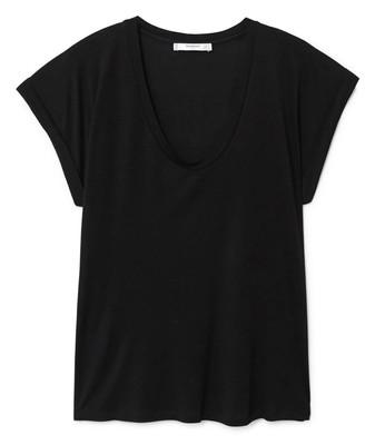 تی شرت ویسکوز یقه گرد زنانه - مانگو