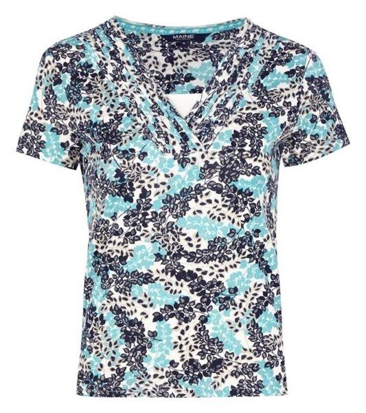تی شرت نخی یقه هفت زنانه - مین نیو اینگلند