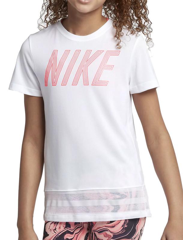 تی شرت ورزشی آستین کوتاه دخترانه Dri-FIT - نایکی
