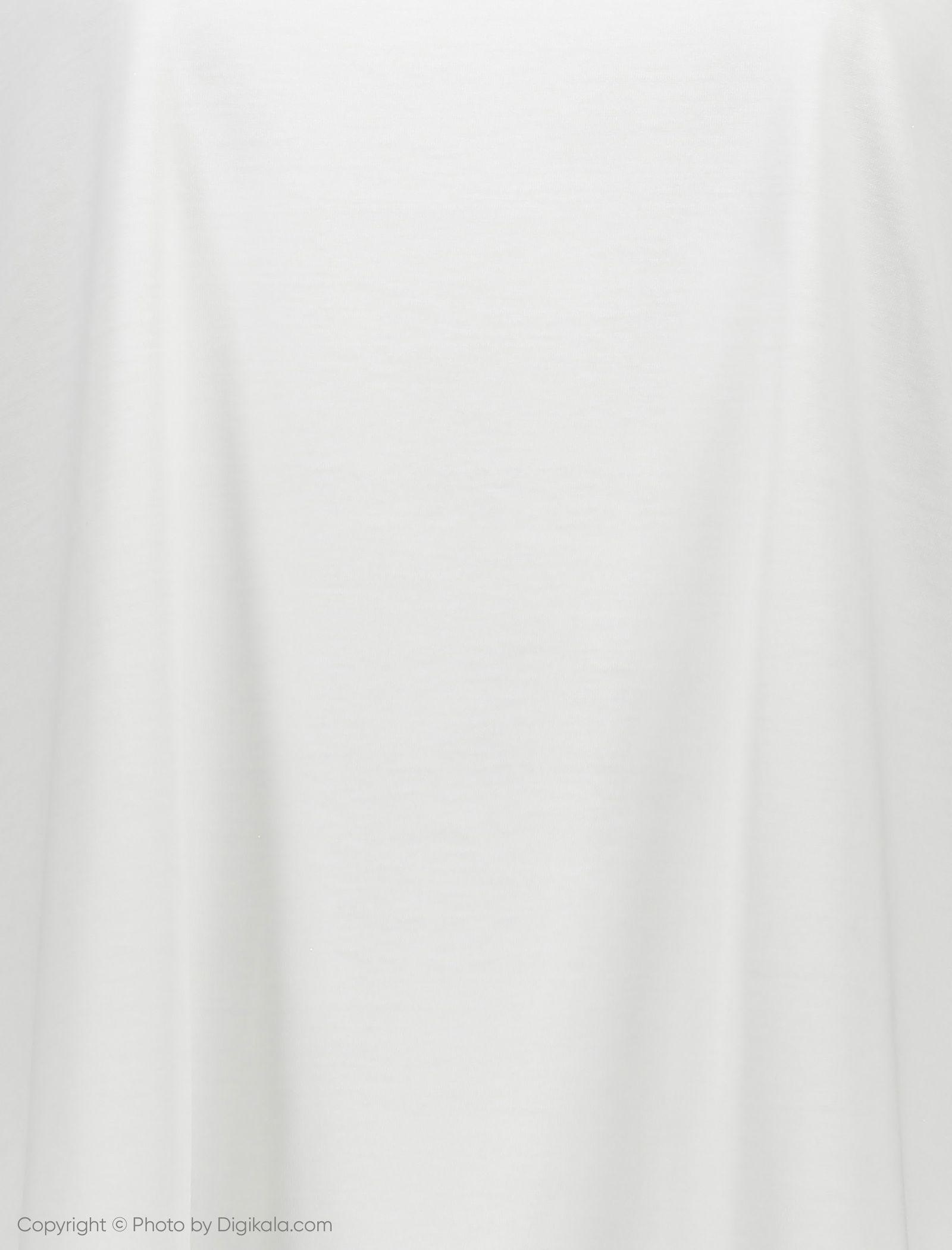 تی شرت ویسکوز یقه گرد زنانه - ویولتا بای مانگو - سفید - 5