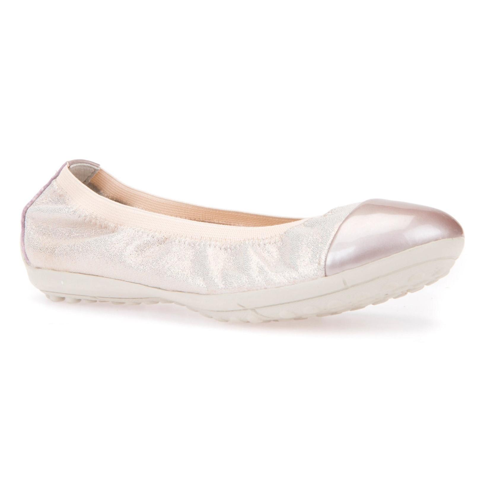 کفش تخت چرم دخترانه JR PIUMA - جی اوکس - صورتي روسن - 4