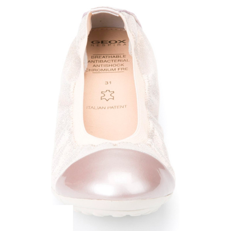 کفش تخت چرم دخترانه JR PIUMA - جی اوکس - صورتي روسن - 5