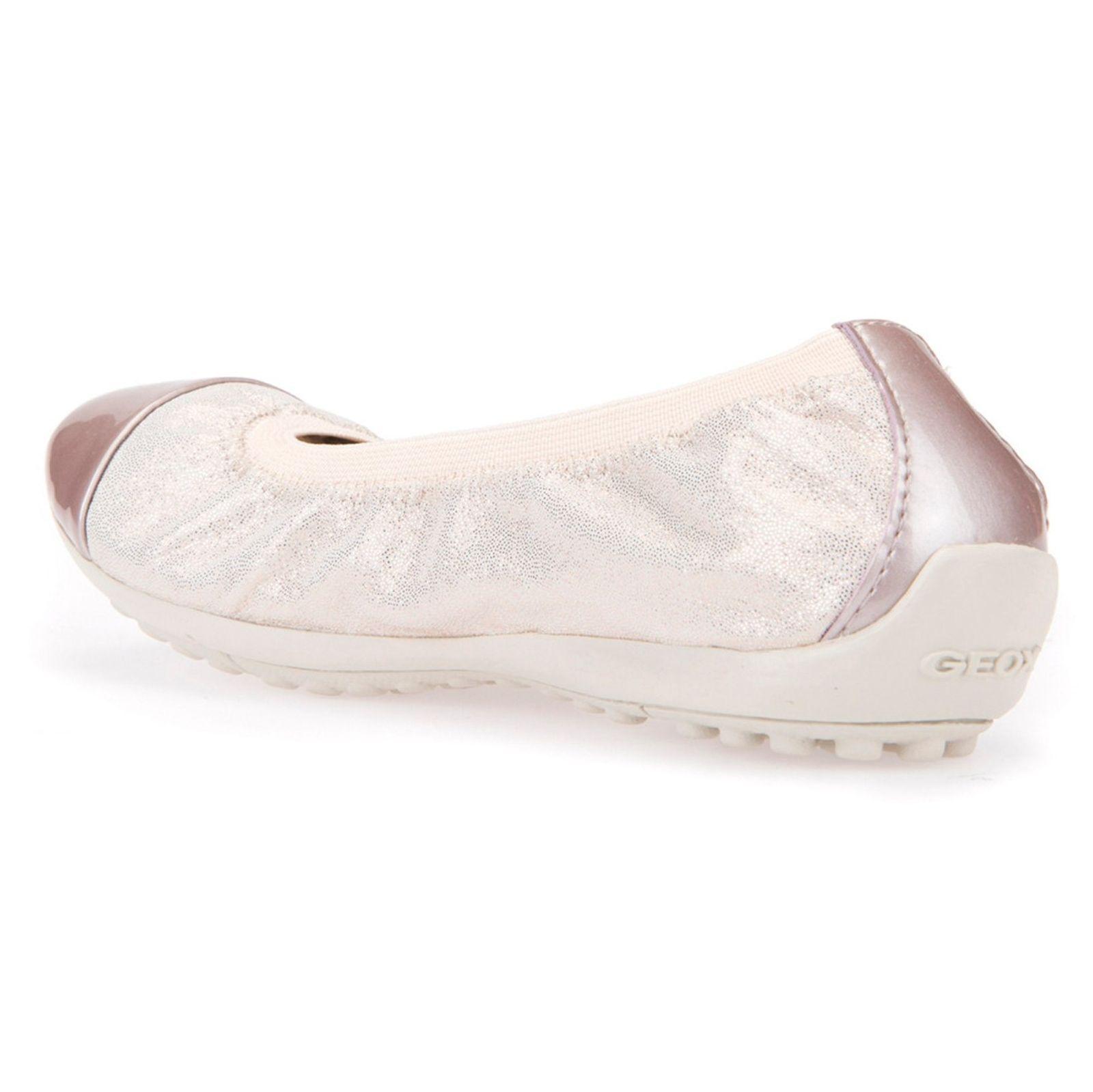 کفش تخت چرم دخترانه JR PIUMA - جی اوکس - صورتي روسن - 7