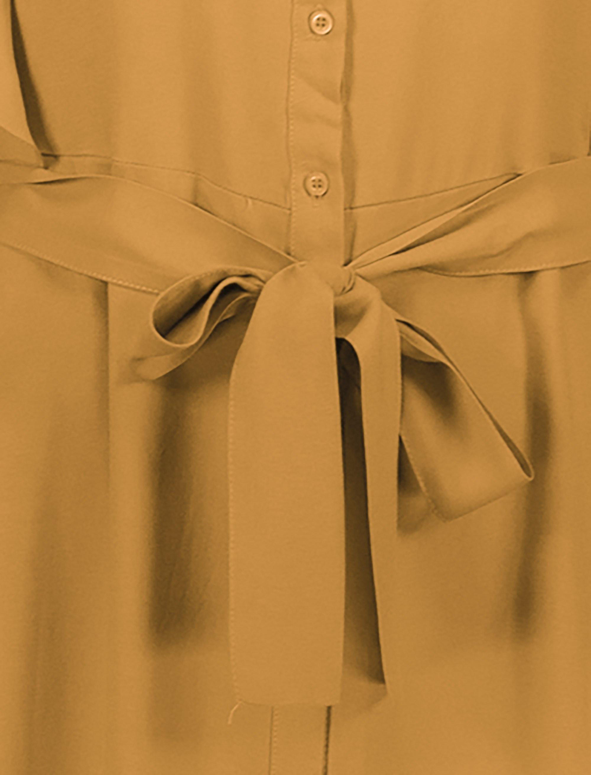 پیراهن ویسکوز بلند زنانه - کوتون - نارنجي - 4