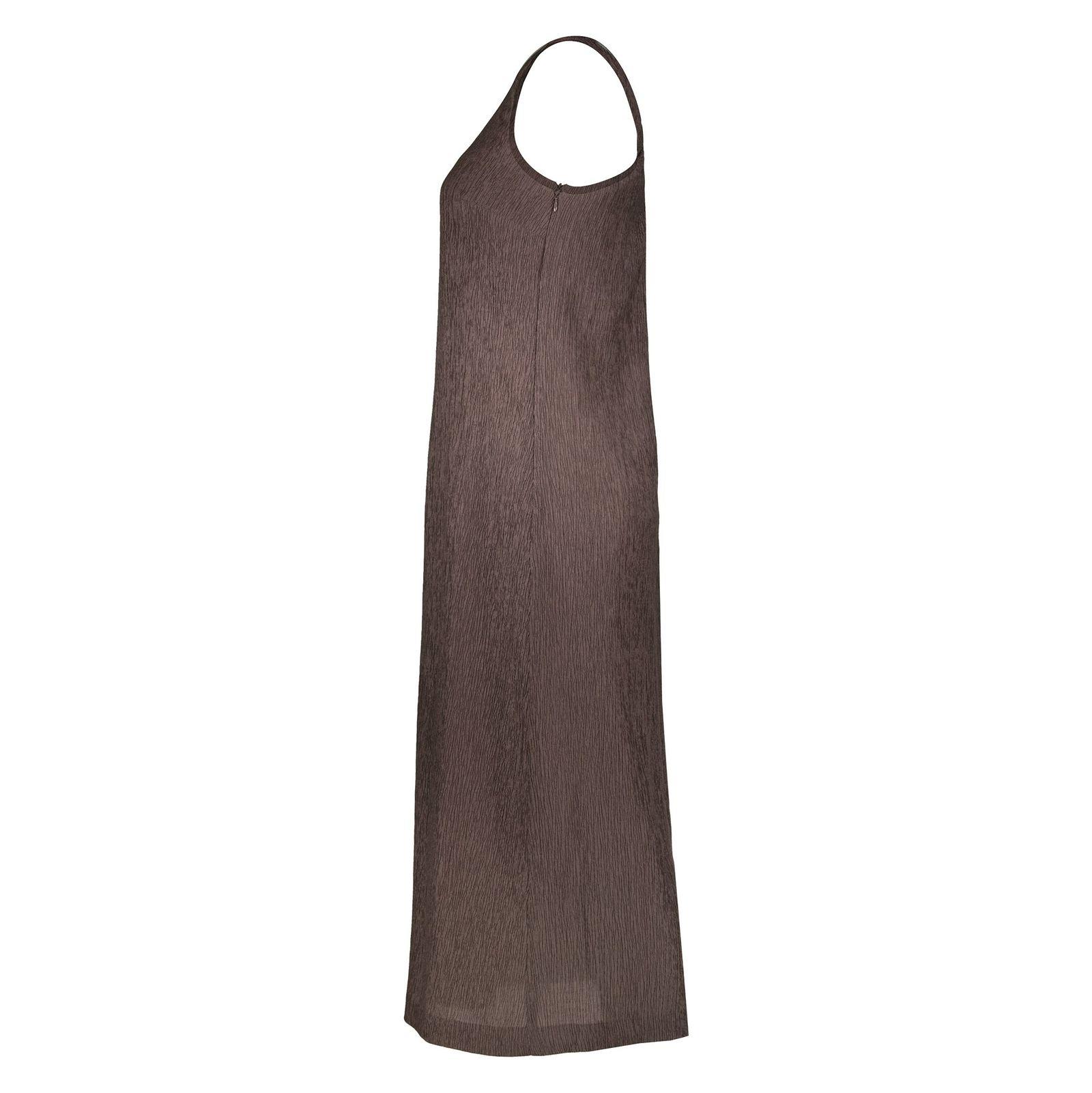 پیراهن بلند زنانه - استفانل - قهوه اي - 3