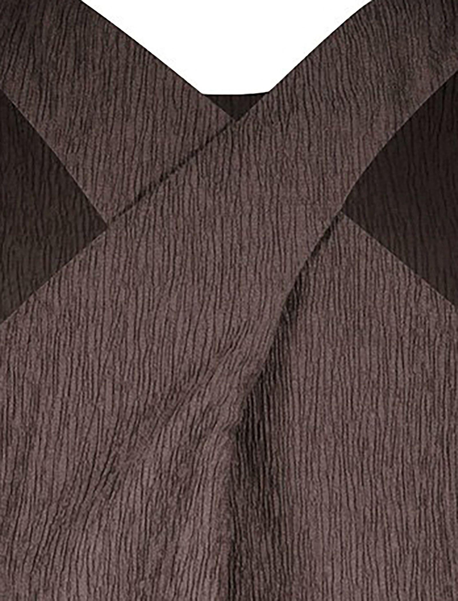 پیراهن بلند زنانه - استفانل - قهوه اي - 4