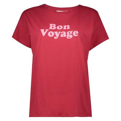 تصویر تی شرت نخی یقه گرد زنانه – مانگو