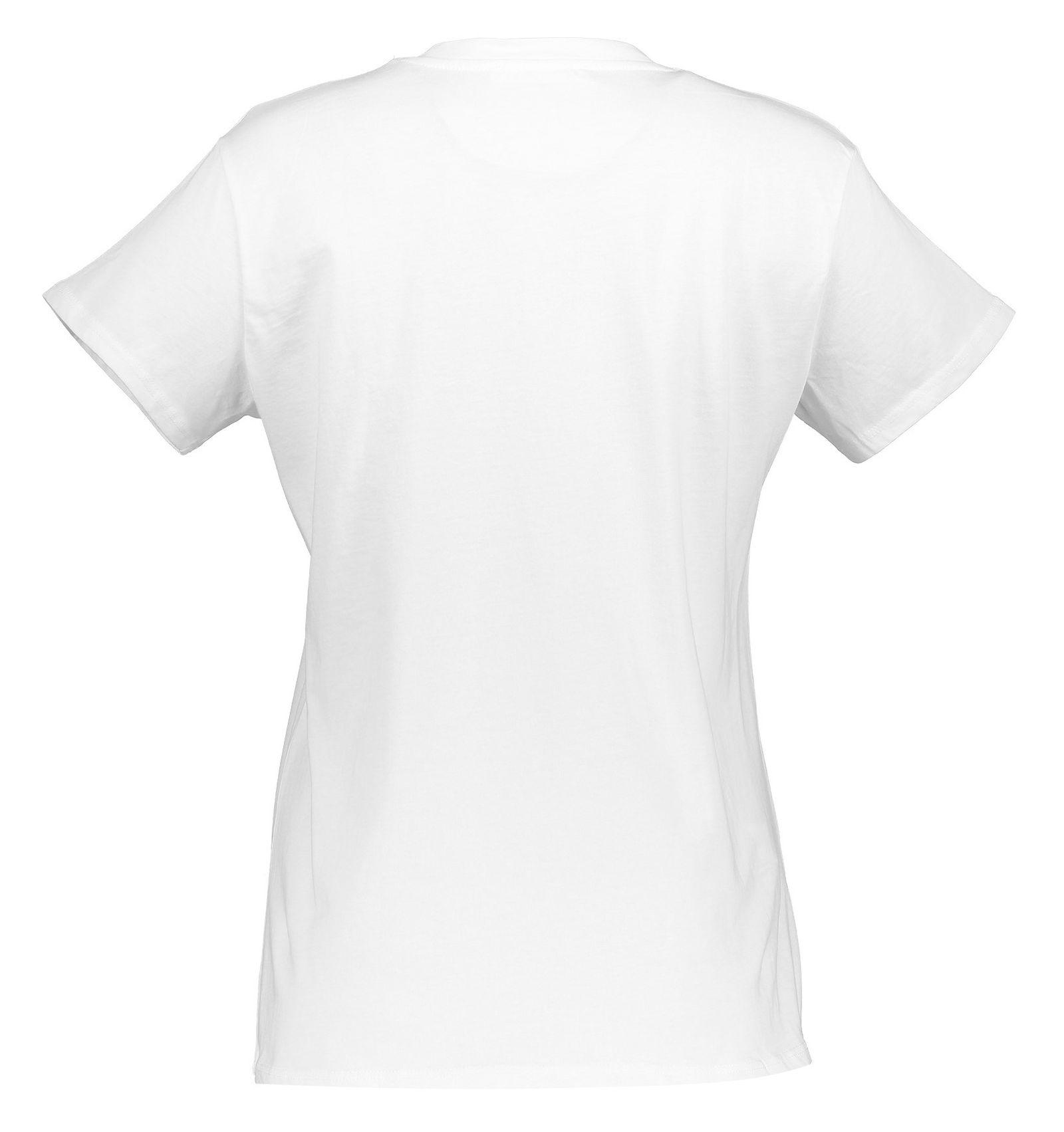 تی شرت نخی یقه گرد زنانه - مانگو - سفيد  - 2