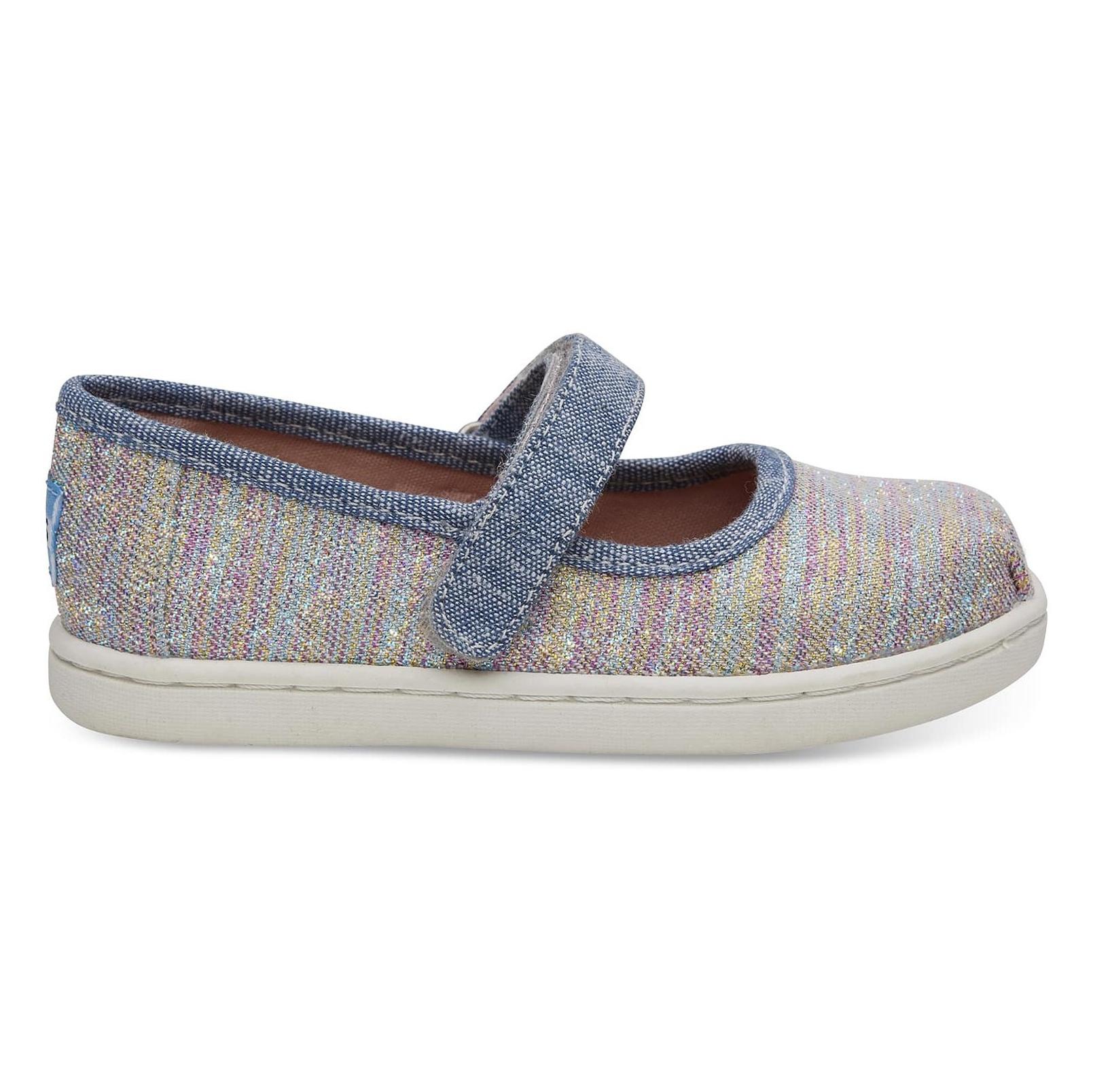 کفش پارچه ای چسبی دخترانه MARY - تامز - چند رنگ - 3