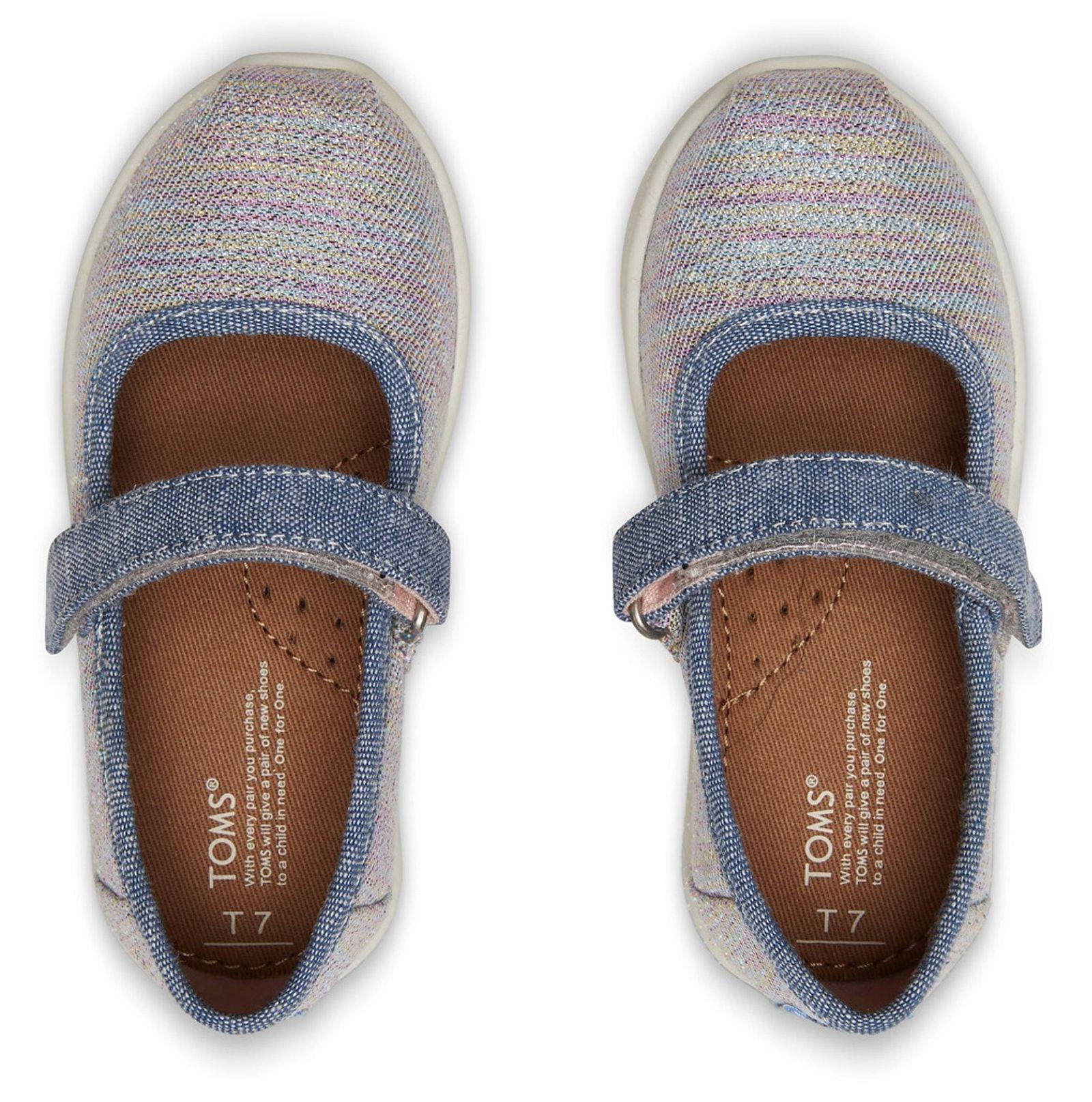 کفش پارچه ای چسبی دخترانه MARY - تامز - چند رنگ - 5