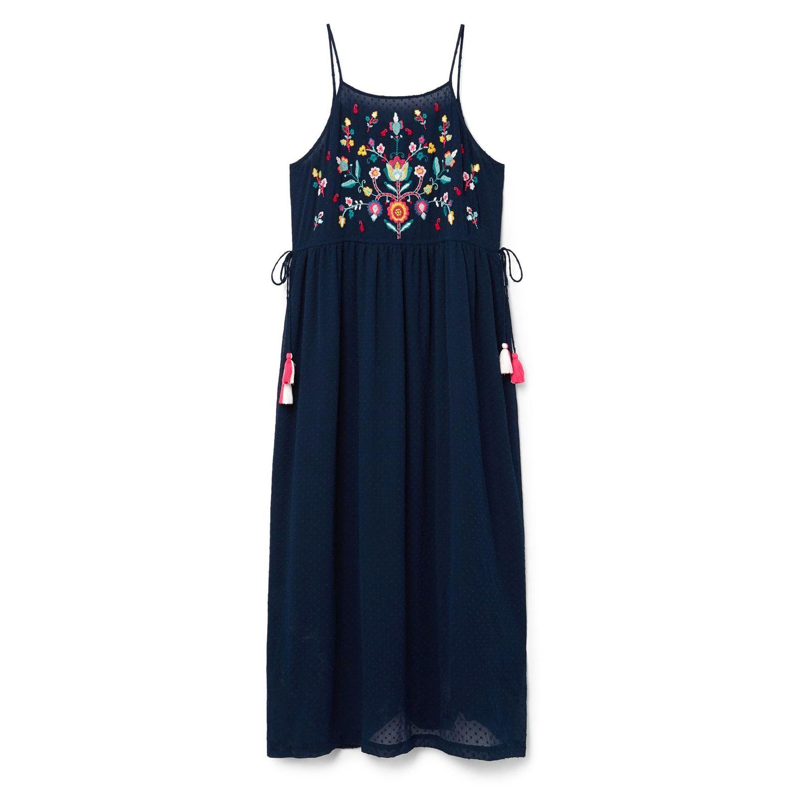 پیراهن بلند زنانه - ویولتا بای مانگو - سرمه اي - 1