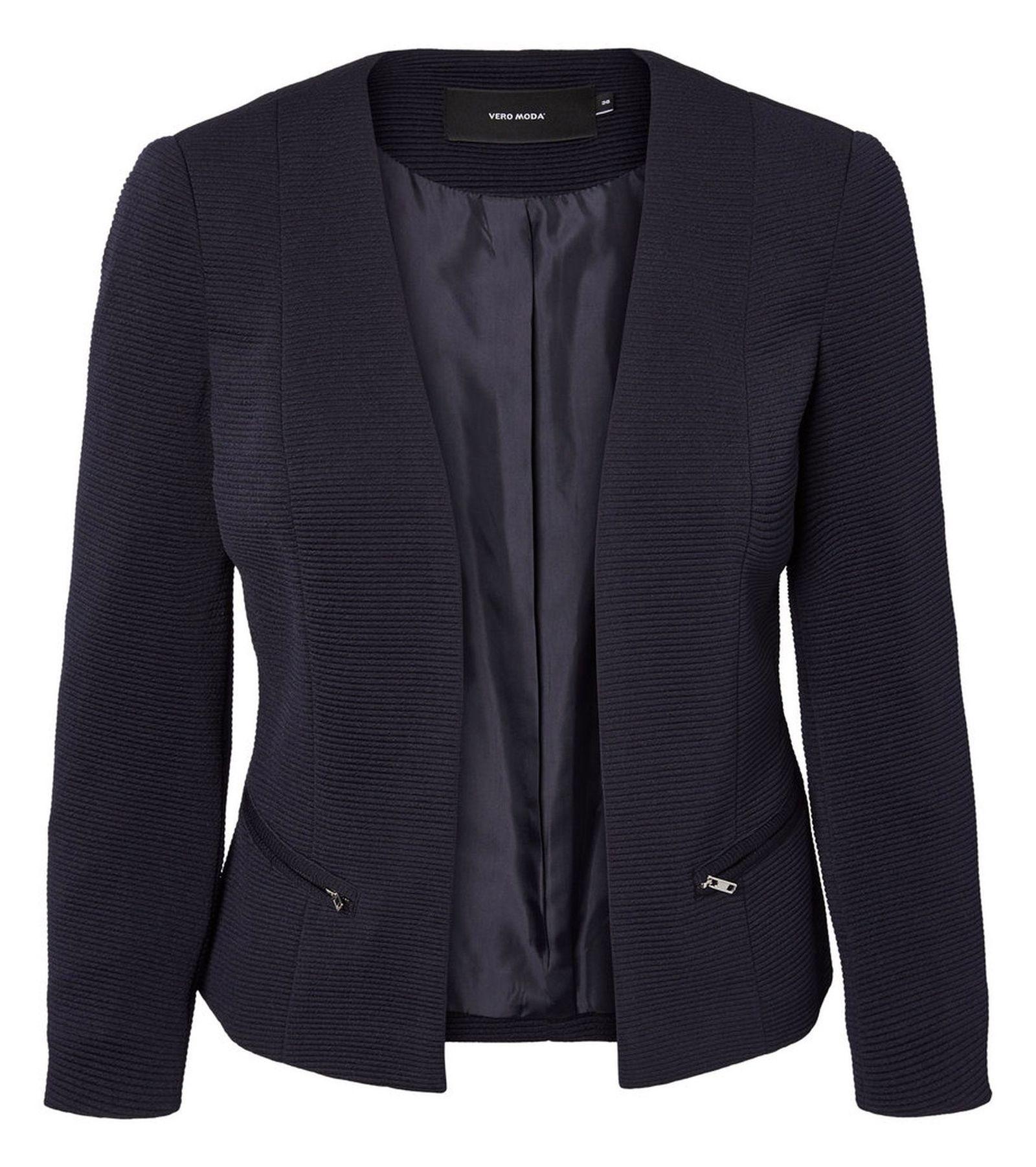 کت کوتاه زنانه - ورو مدا - سرمه اي  - 1