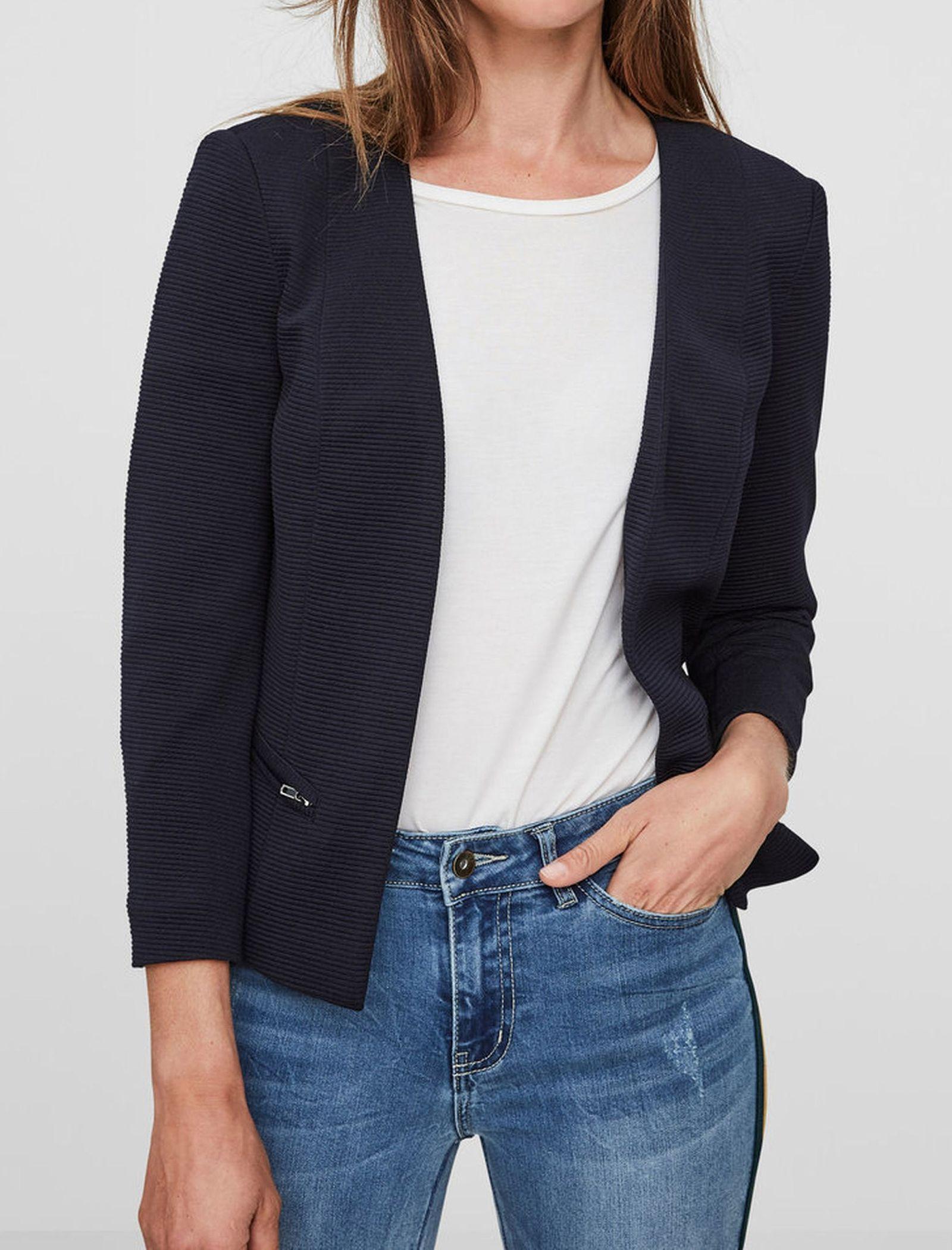 کت کوتاه زنانه - ورو مدا - سرمه اي  - 2