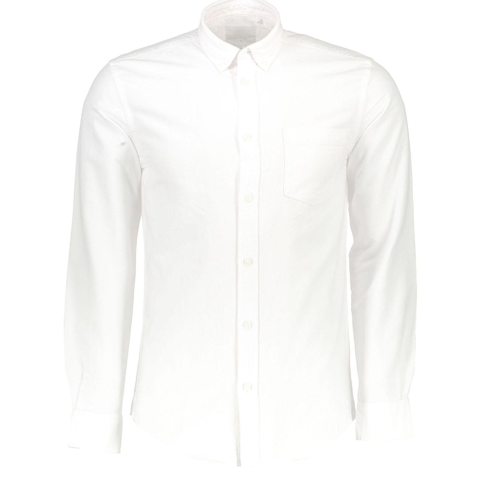 پیراهن نخی آستین بلند مردانه Jay 2.0 - مینیموم - سفيد - 1